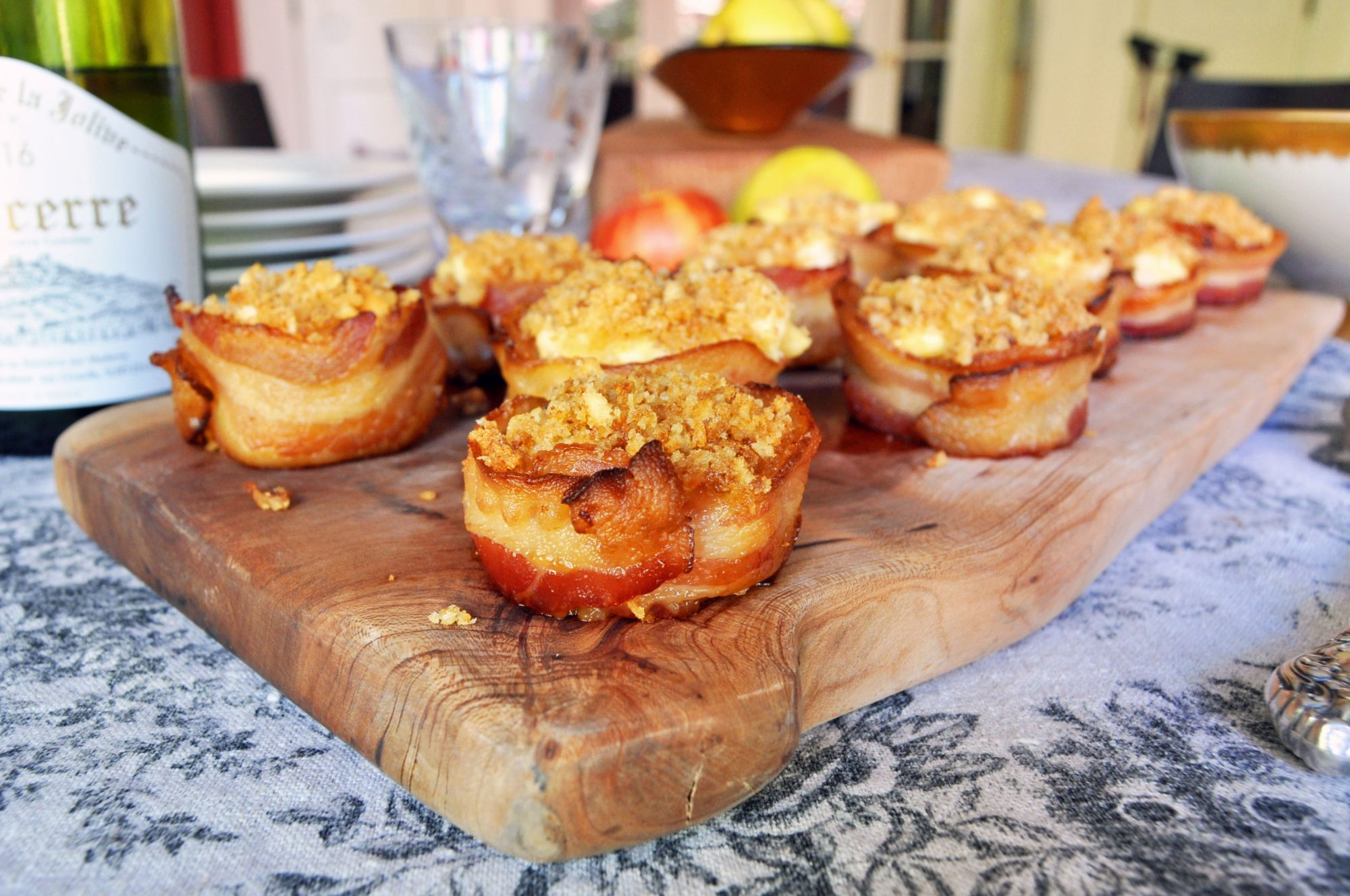 mini pineapple bacon casseroles