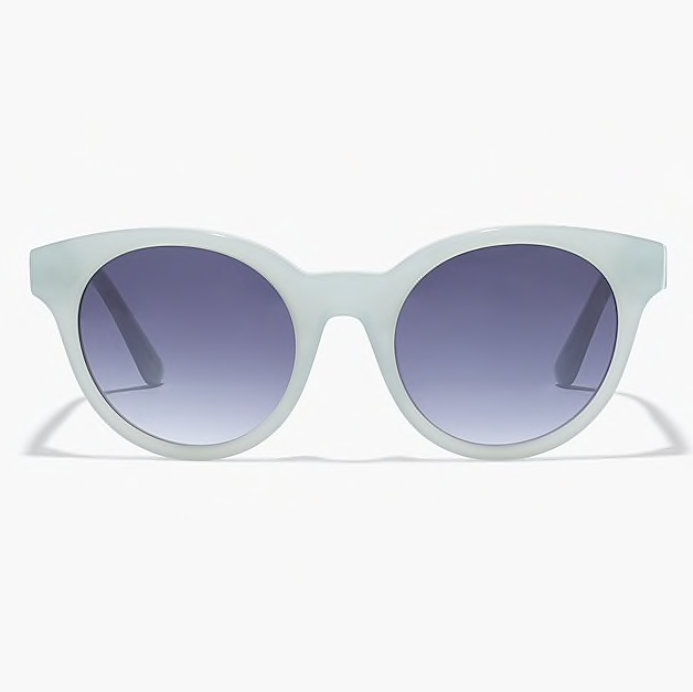 Round Frame Sunglasses in Frosty Seaweed