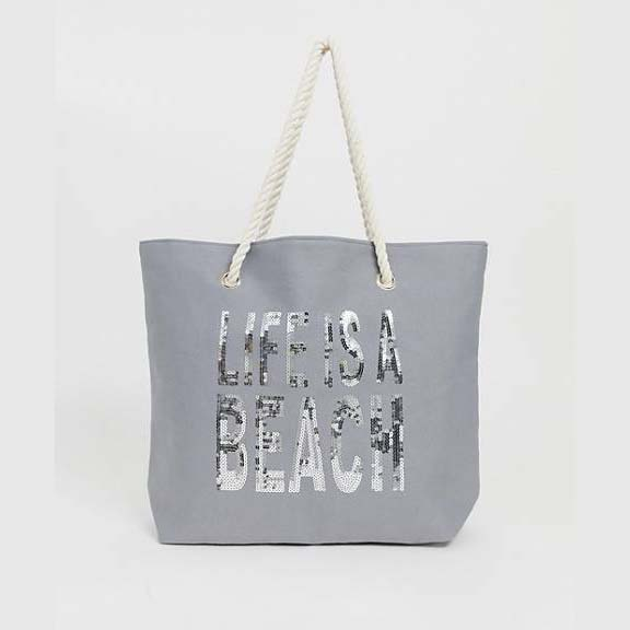Sequin Beach Bag