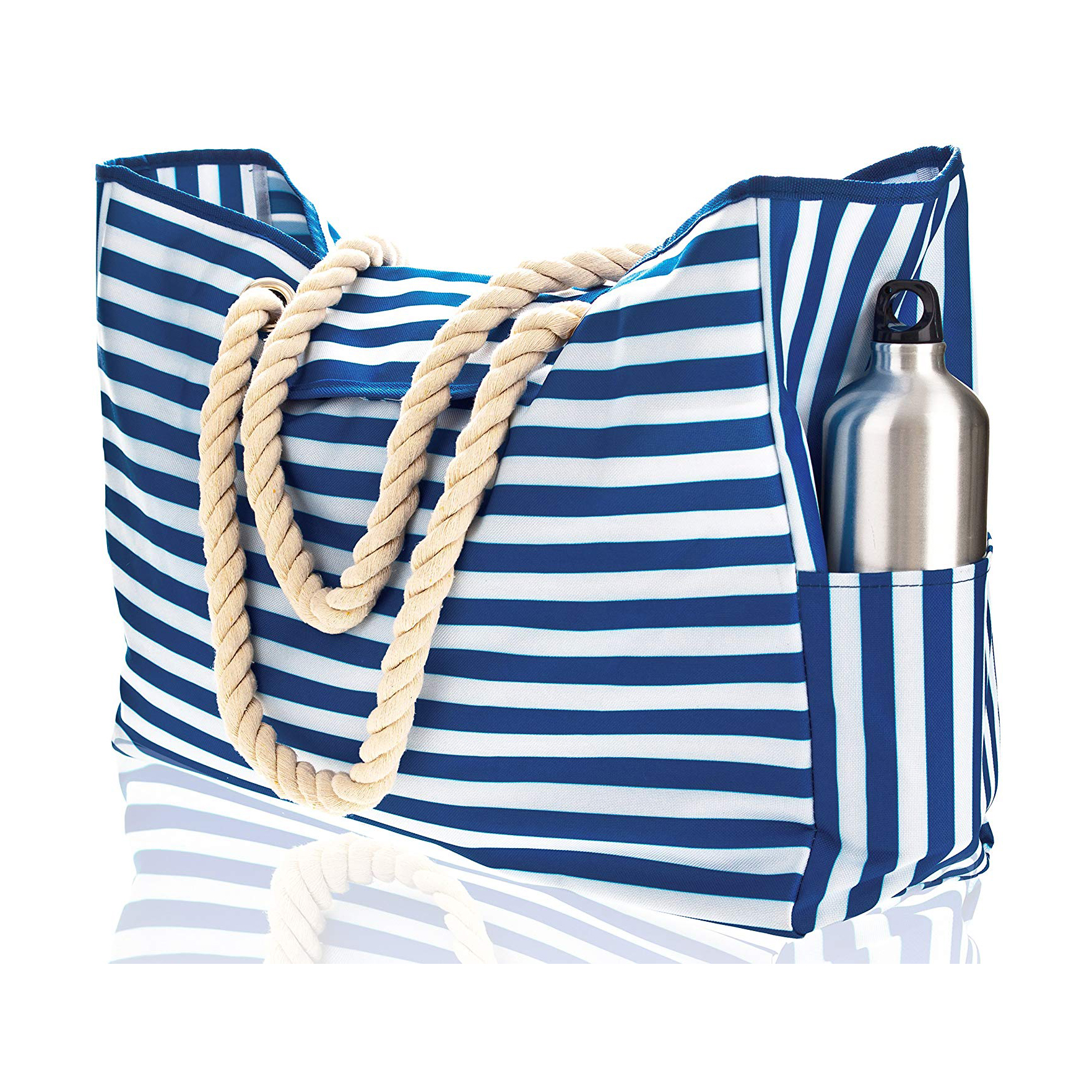 Striped Waterproof Shoulder Bag