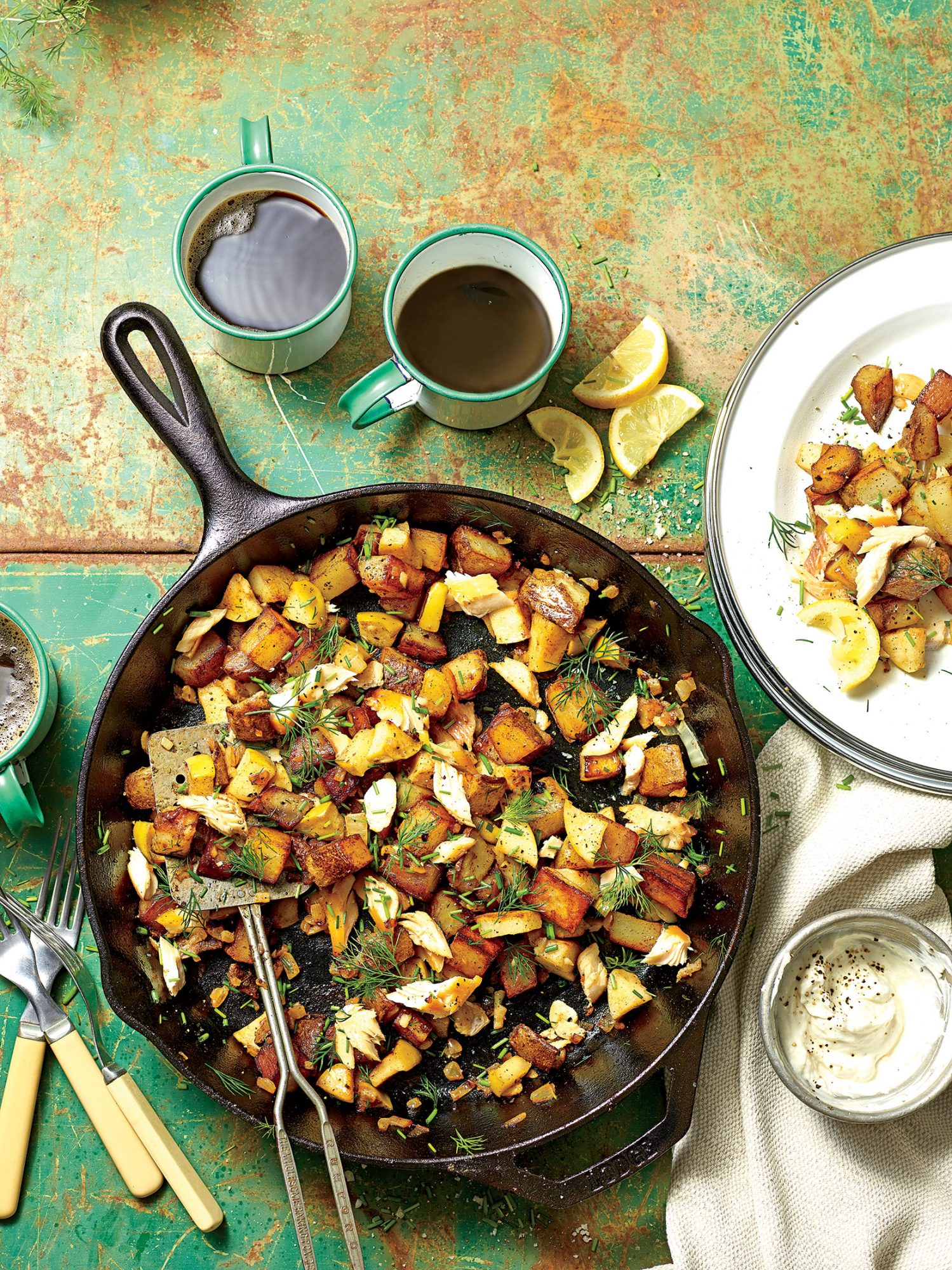 Smoked Trout-Apple Hash