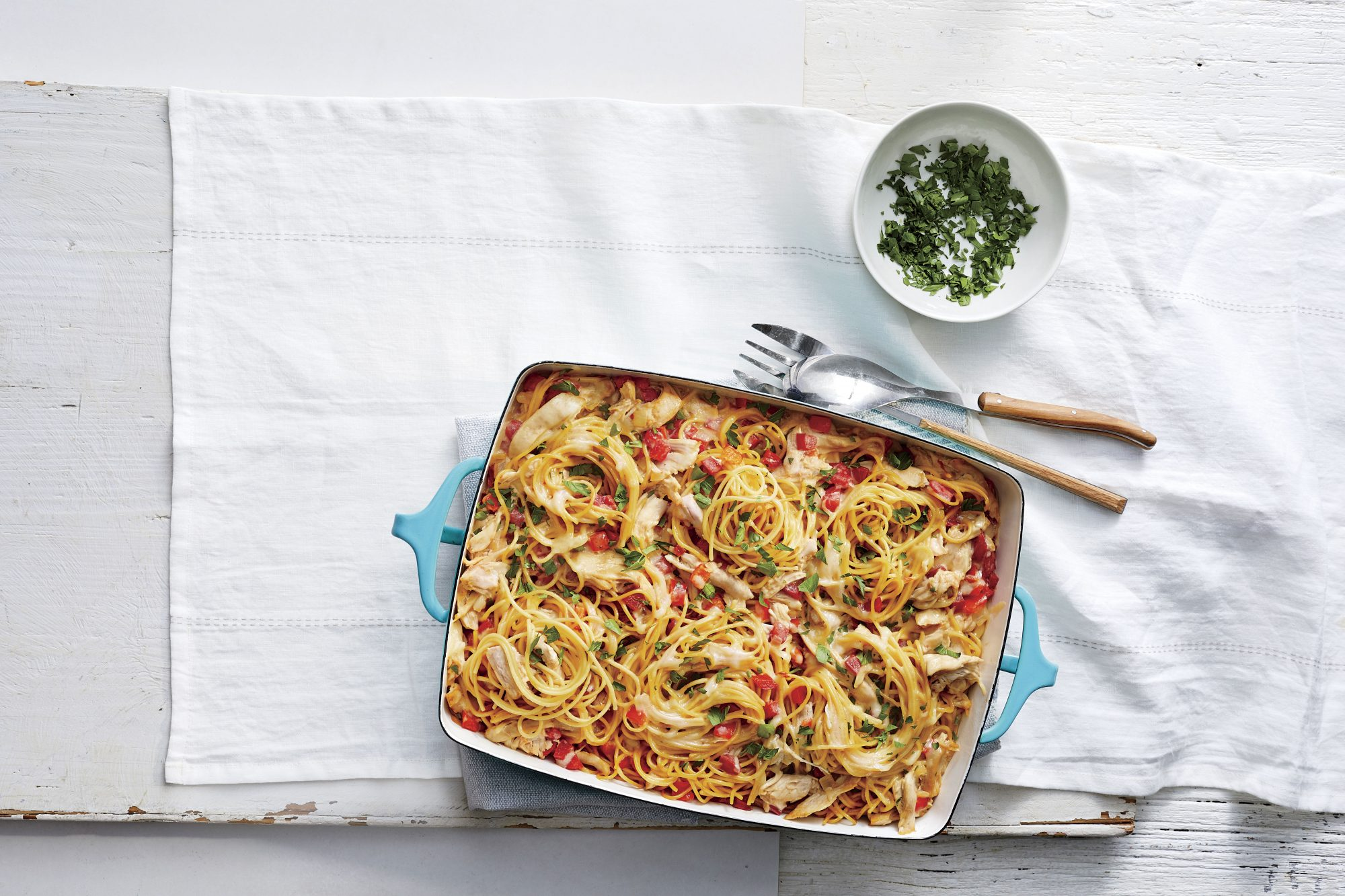 I Made This Chicken Spaghetti Casserole and My Mom Wouldn't Leave Without the Recipe