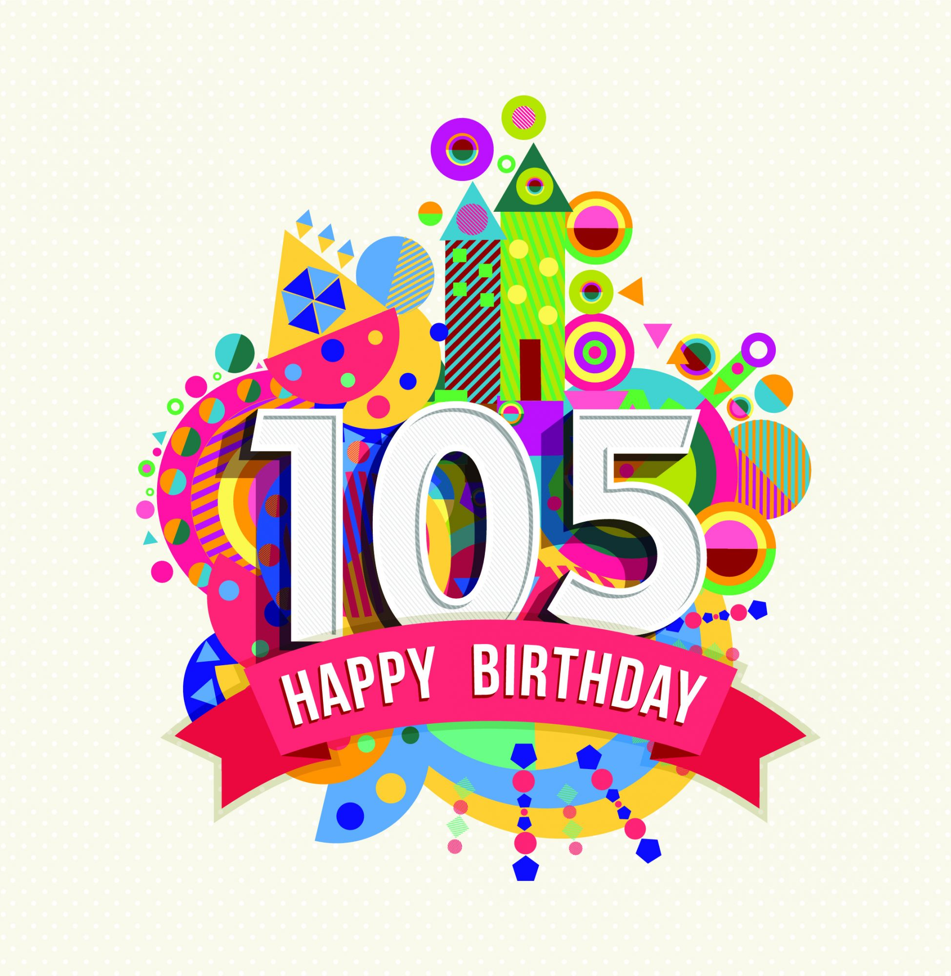 105th Birthday Card