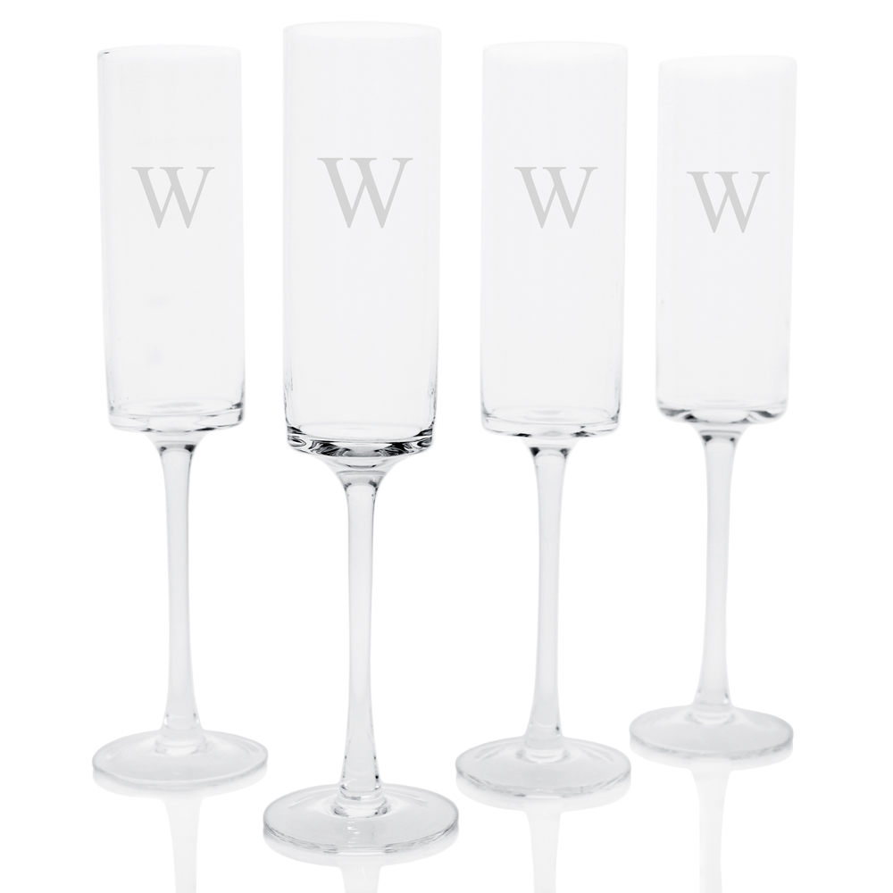 Birch Lane Leavell Personalized 10 oz. Glass Flute, $58.99 for a set of 4