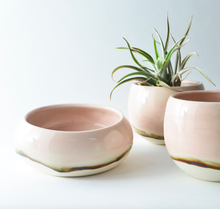 In The Pursuit Pink Pouch Bowl by Studio Joo, $80