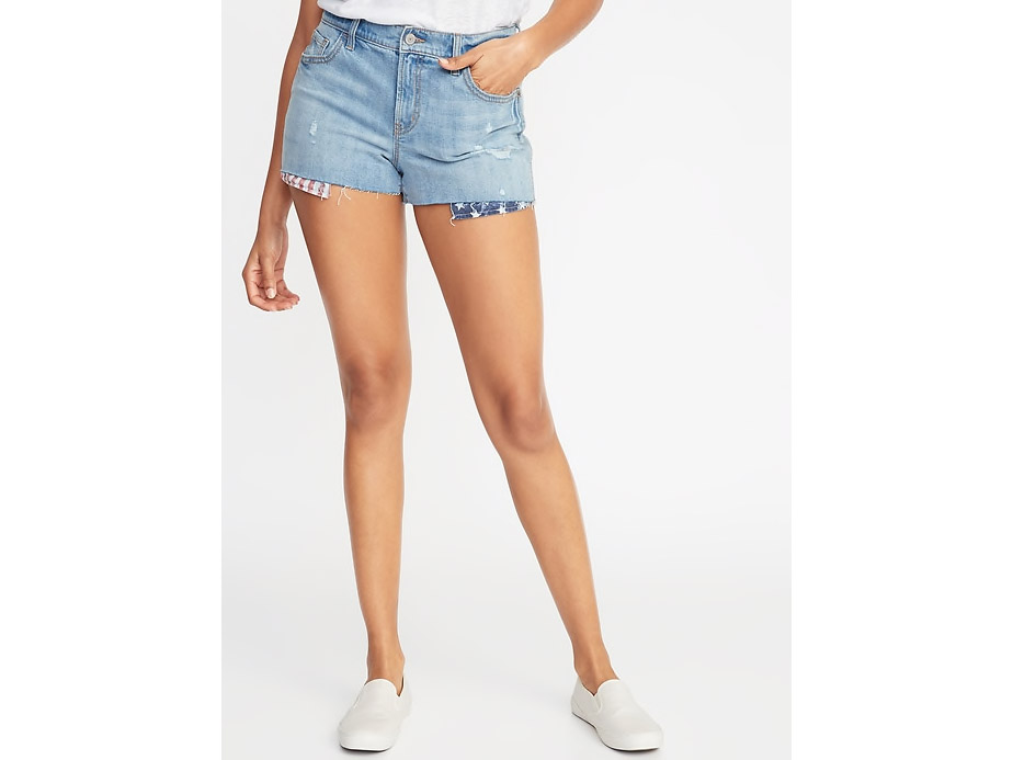 RX_1905 Old Navy 4th of July_Americana Boyfriend Denim Cutoffs for Women