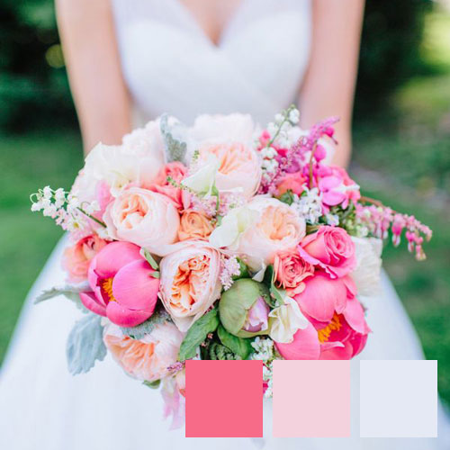 Coral and Cream Bouquet