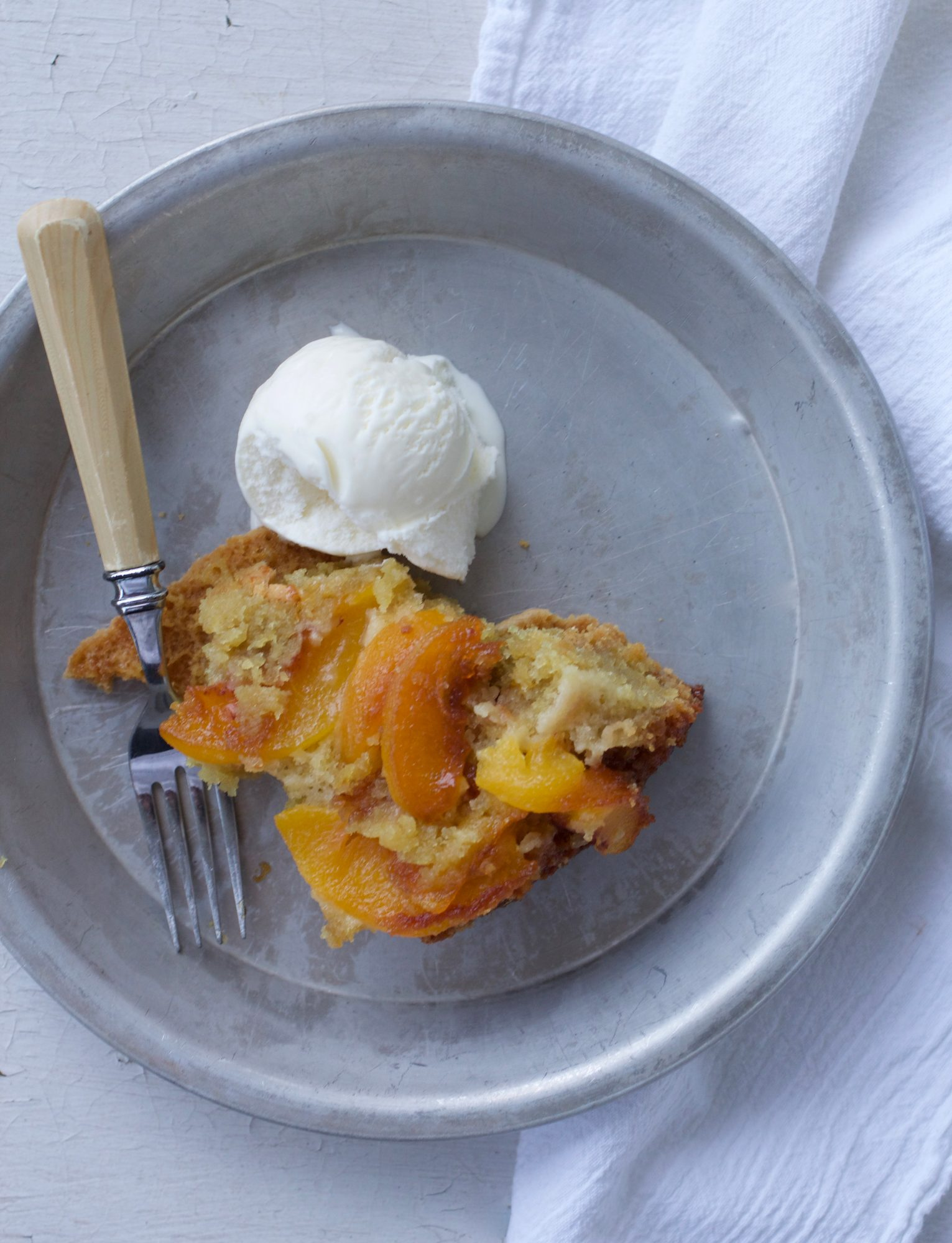 Dutch Oven Upside Down Peach Cake