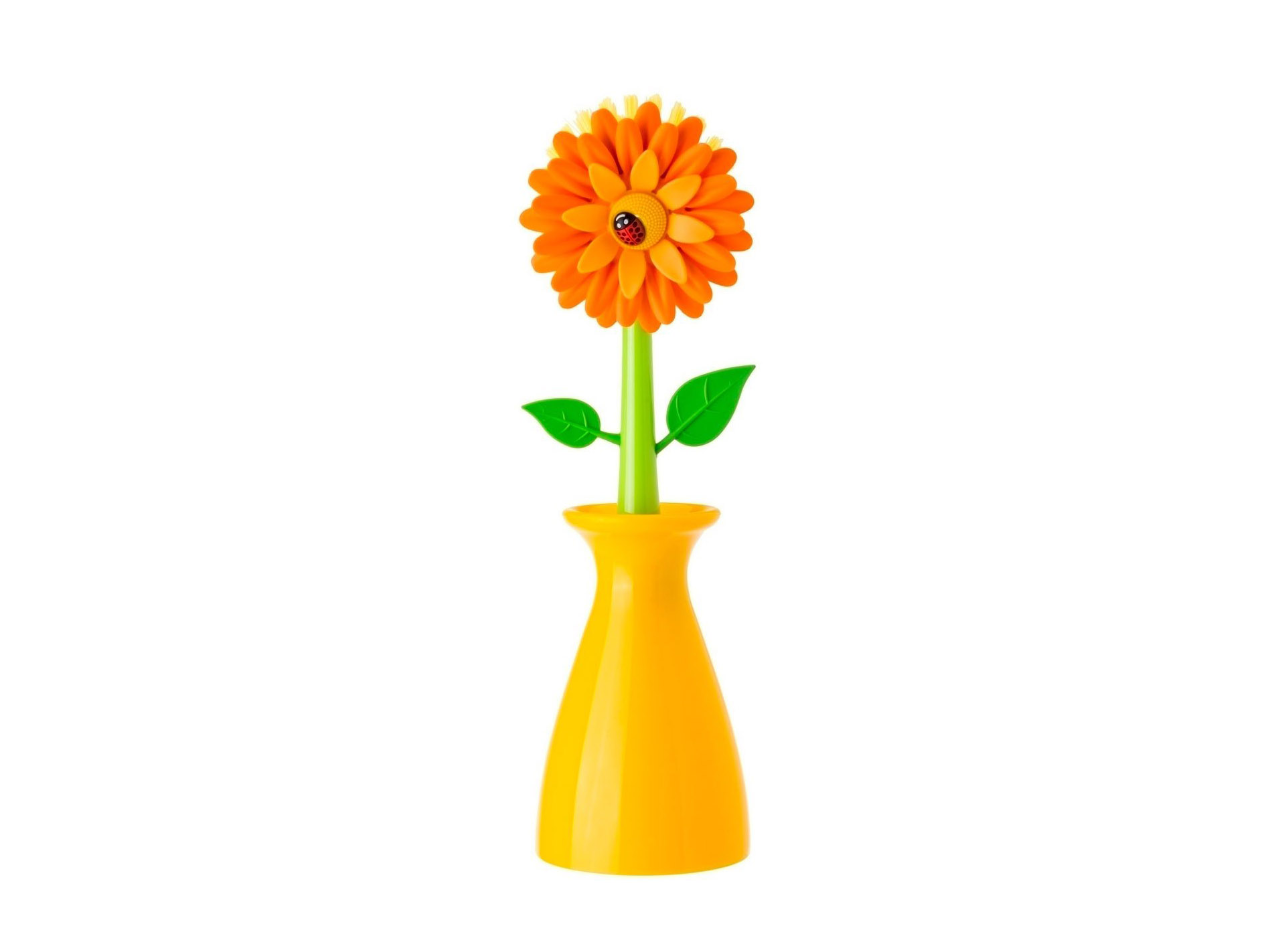 Flower Power Dish Brush with Vase