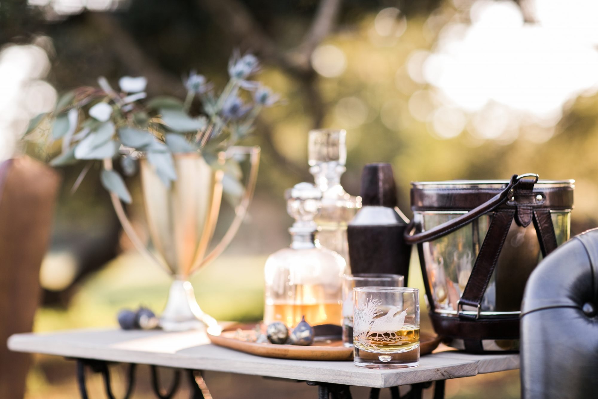 Warm Up with a Wedding Bourbon Bar