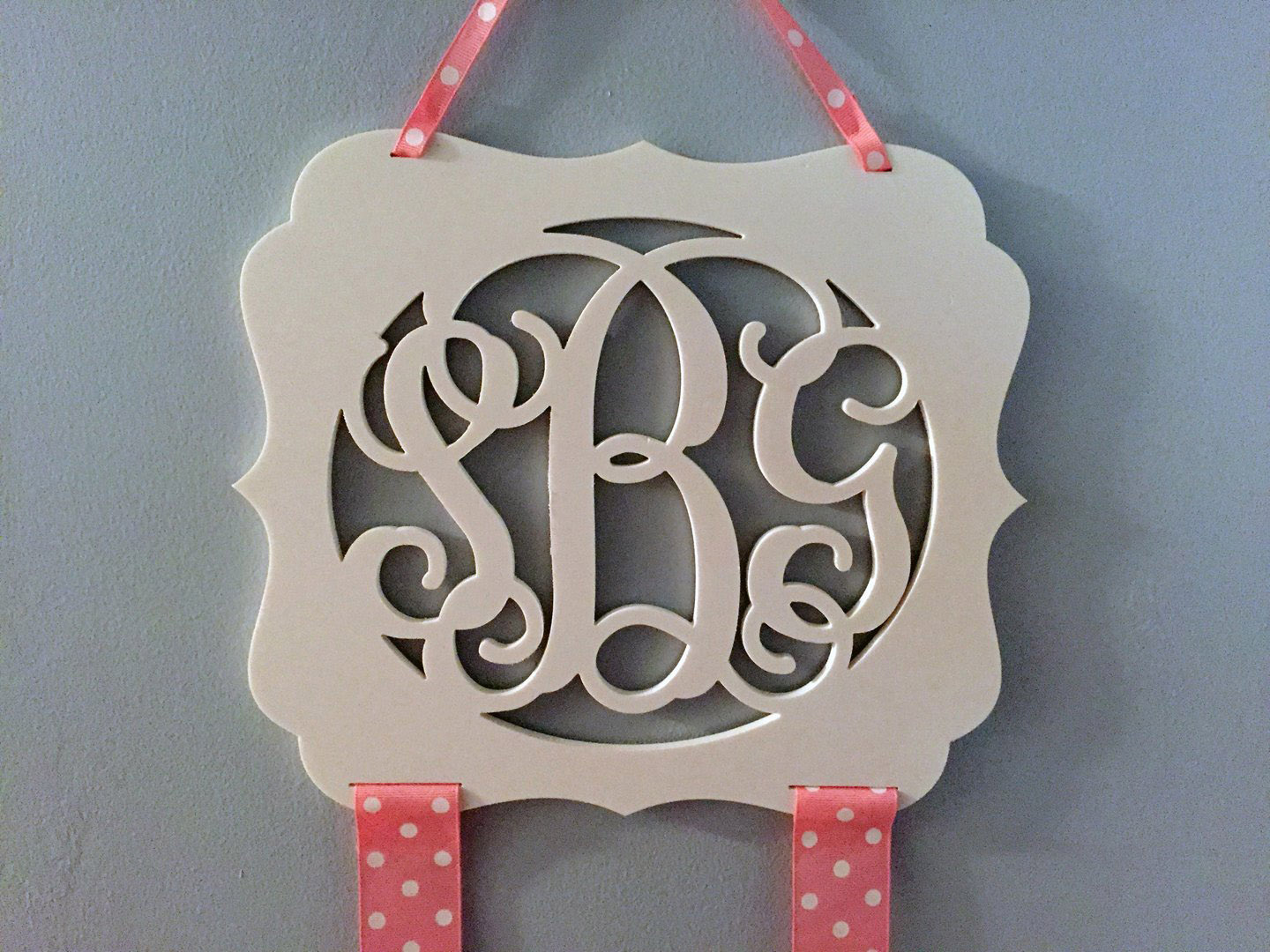 Monogram Bow Holder