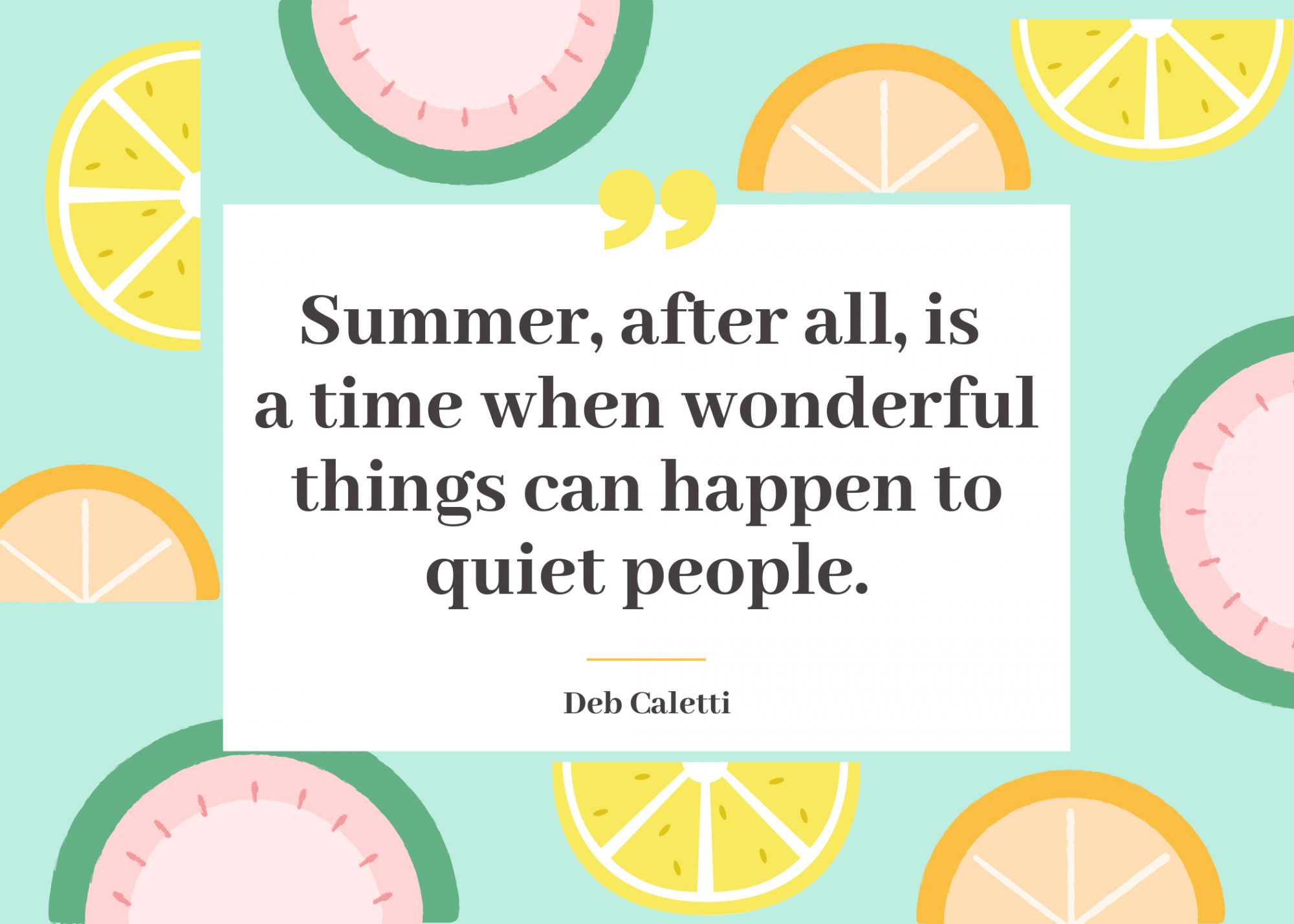 More Summer Quotes from Literature