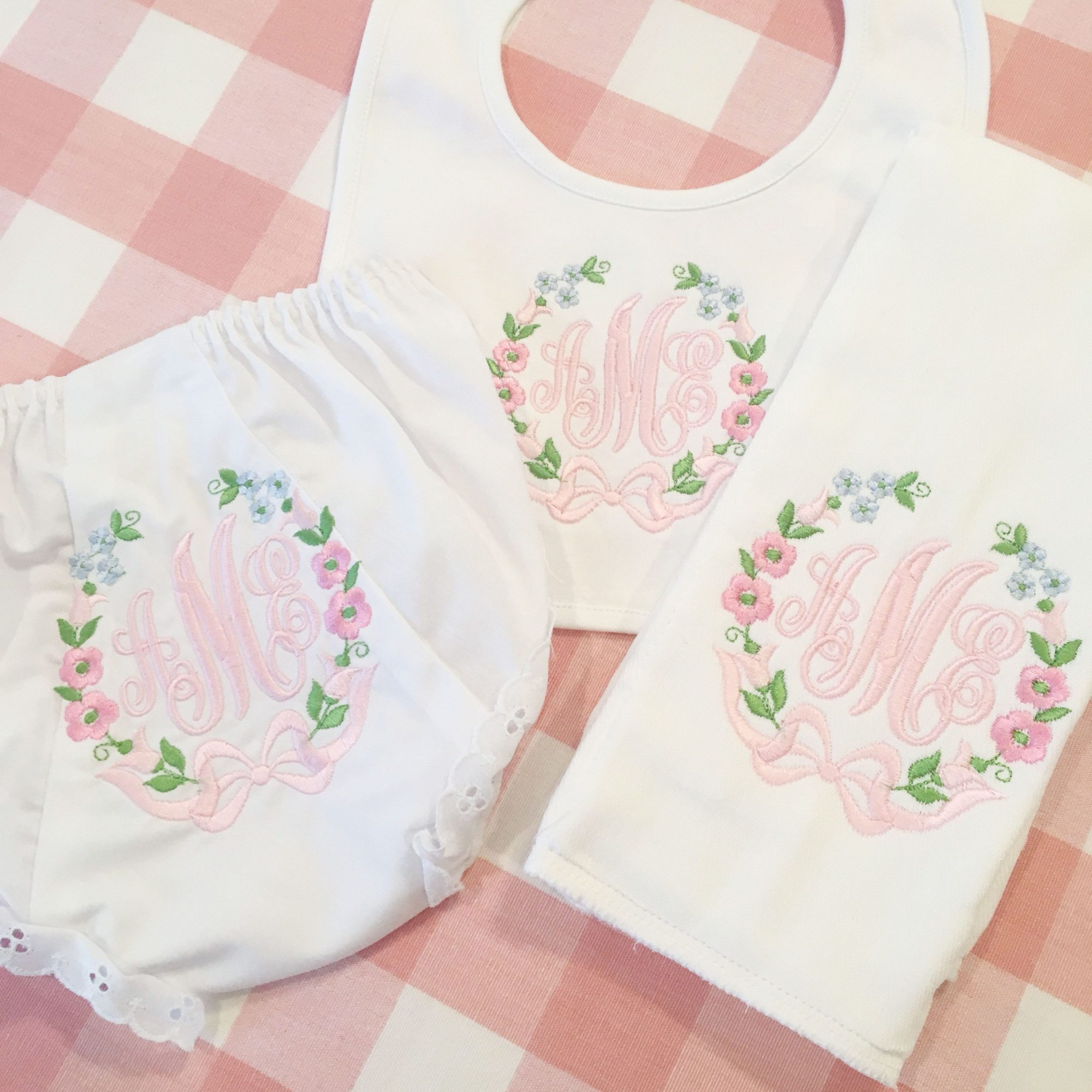 The Southern Baby Monogrammed Bloomer Set