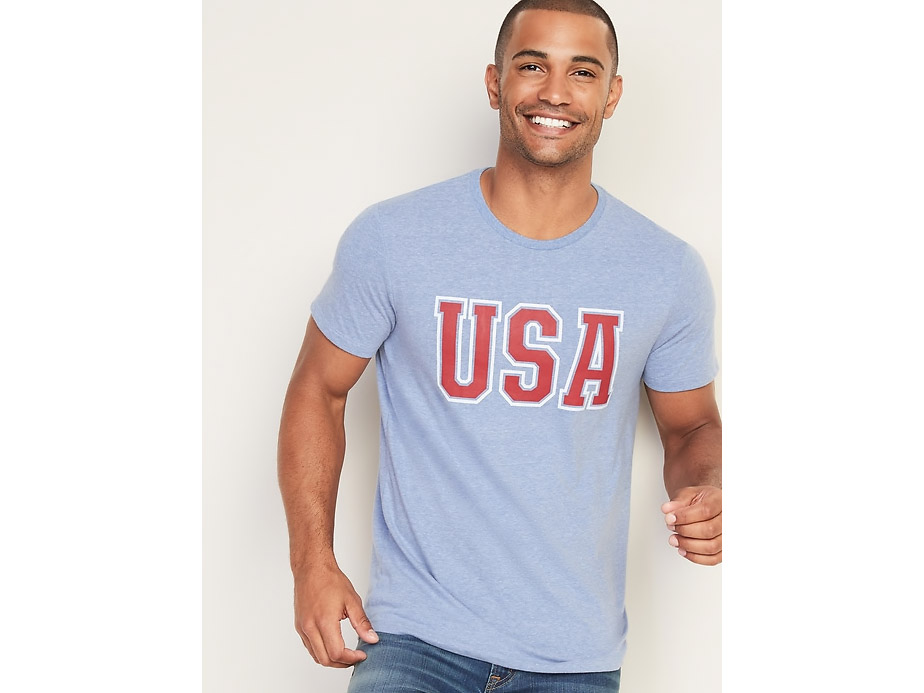 USA Soft-Washed Graphic Tee for Men