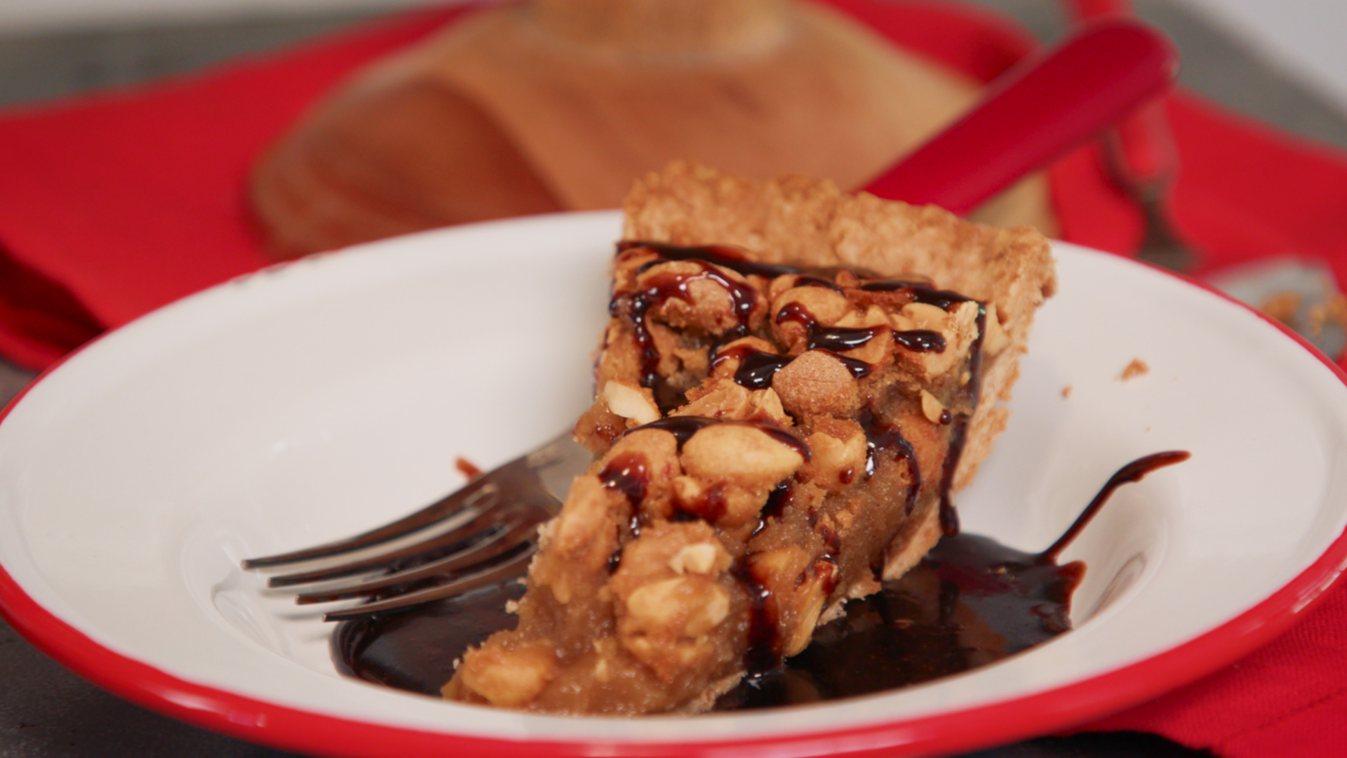 Georgia Peanut Pie With Coca-Cola Glaze