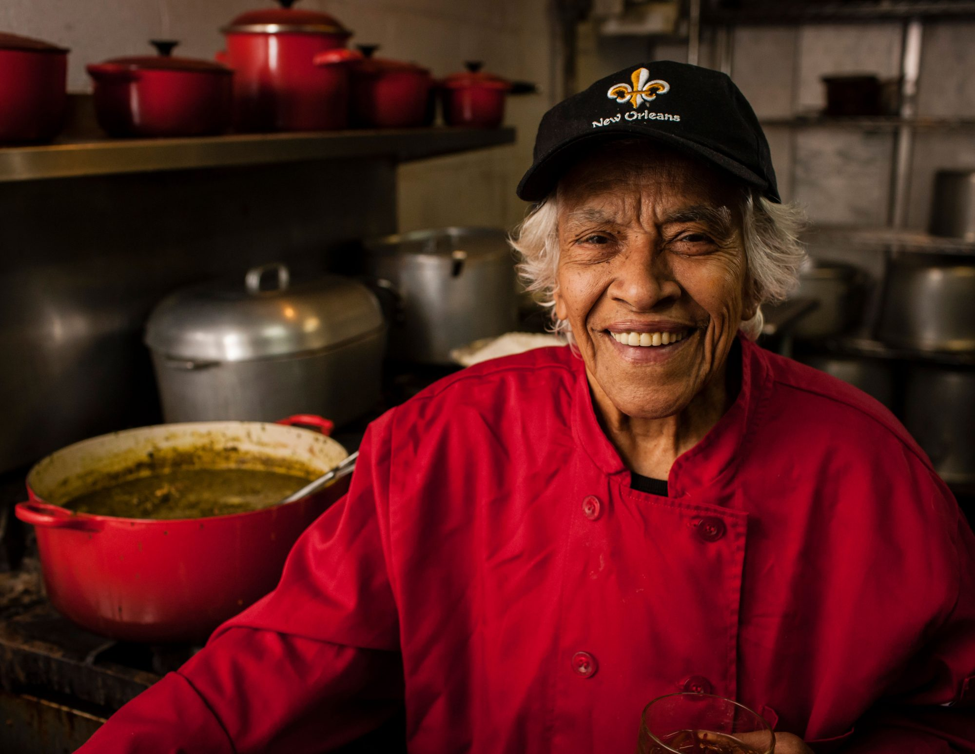 Chef Leah Chase Cooking Gumbo