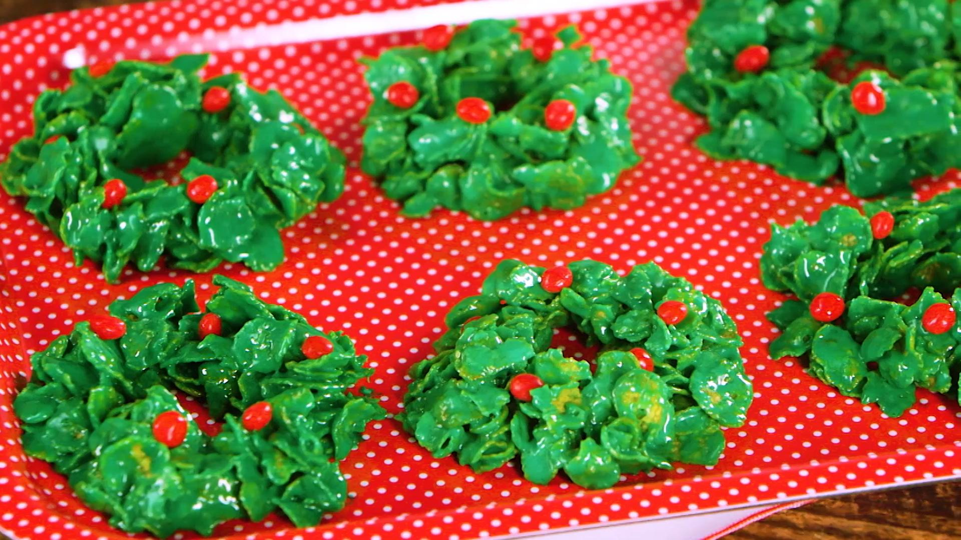 Cornflake Wreaths Christmas Cookies Recipe Southern Living