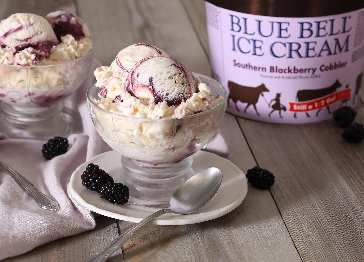 Blue Bell Southern Blackberry Cobbler