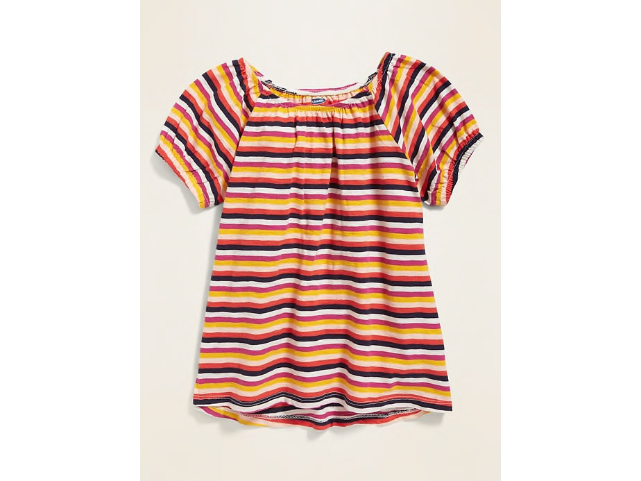 Bubble-Sleeve Top for Girls