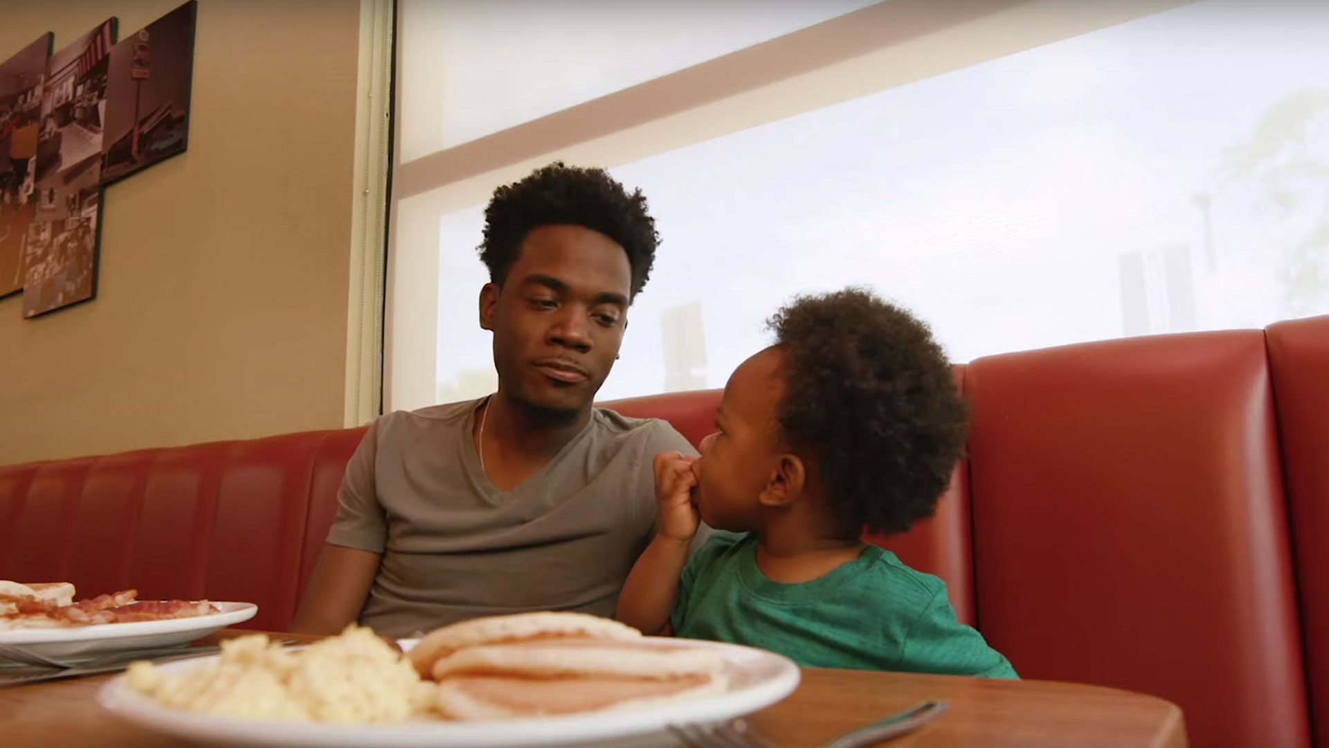 Tennessee Dad and Babbling Son Land Equally Adorable Denny's Commercial