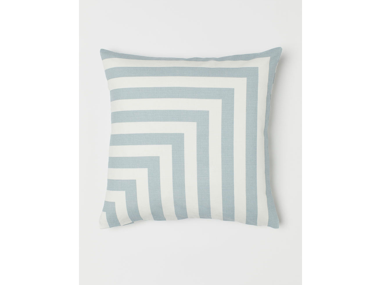 Patterned Cushion Cover in White/Light Turquoise