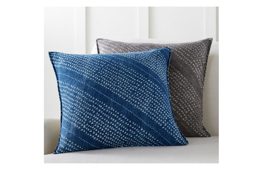 Stanton Hand Dyed Pillow Cover in Blue Multi