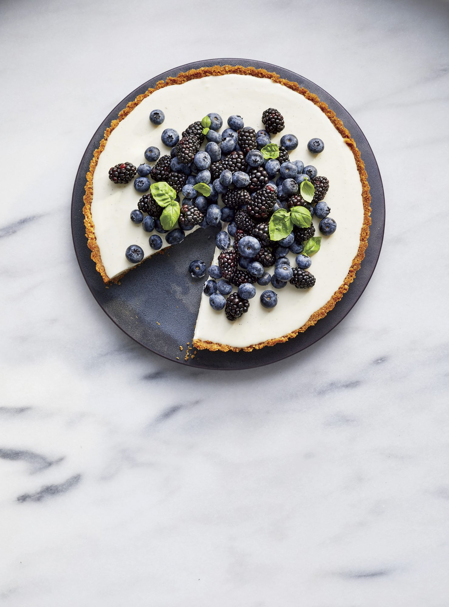 Black-and-Blue Buttermilk Tart