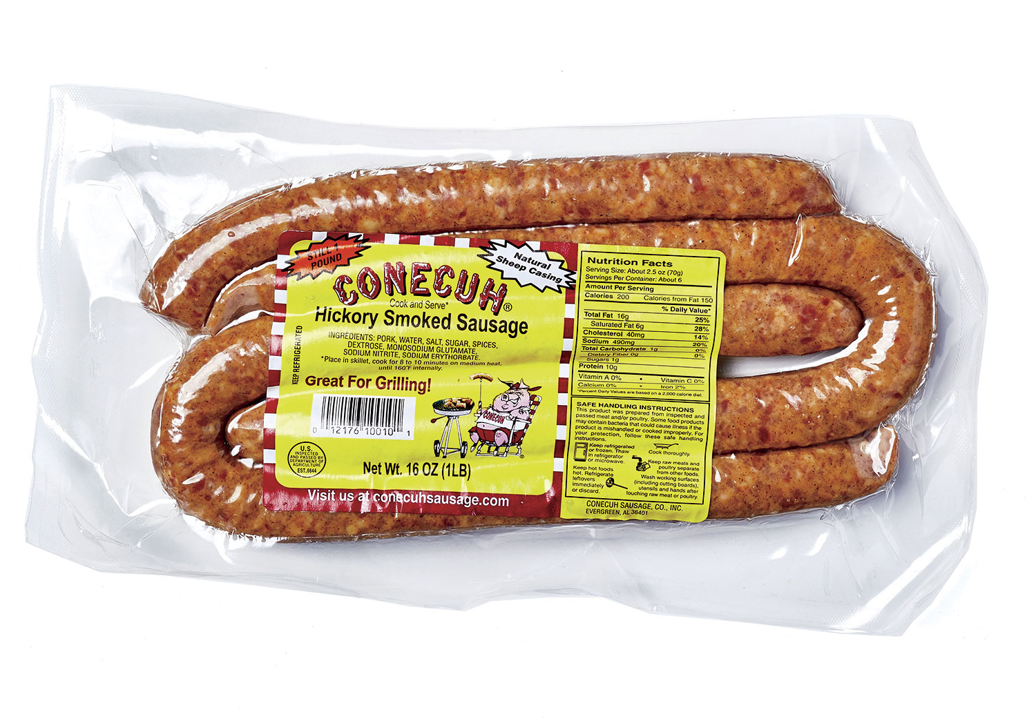Best Pork: Conecuh Hickory Smoked Sausage