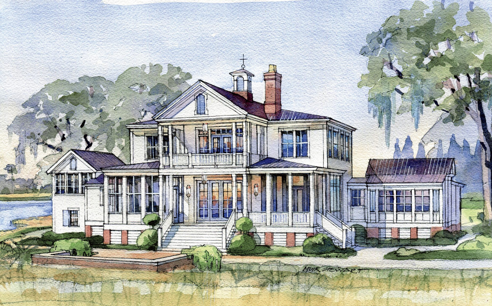 2019 Idea House Rendering Back View
