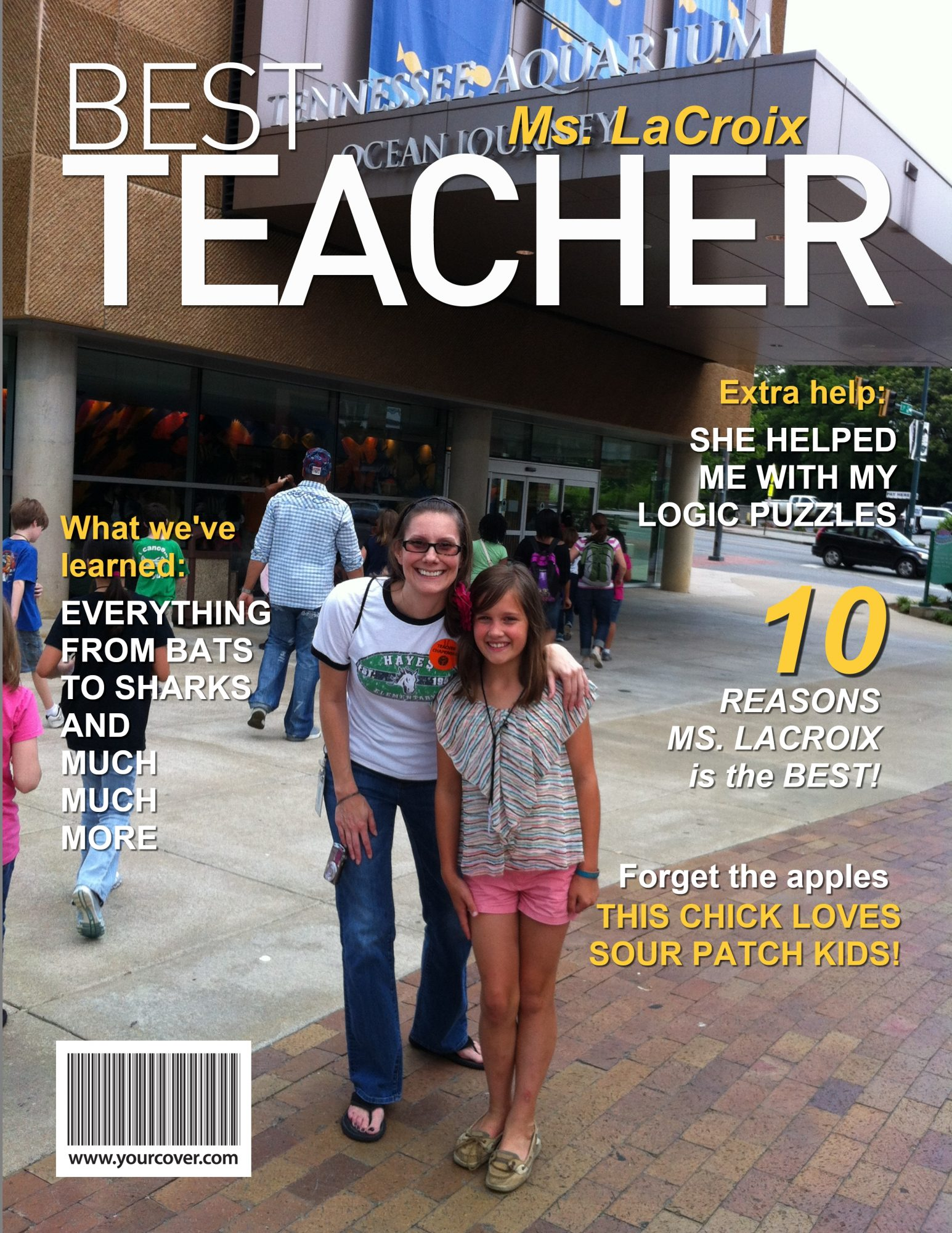 YourCover Personalized Best Teacher Magazine Cover, from $9.95