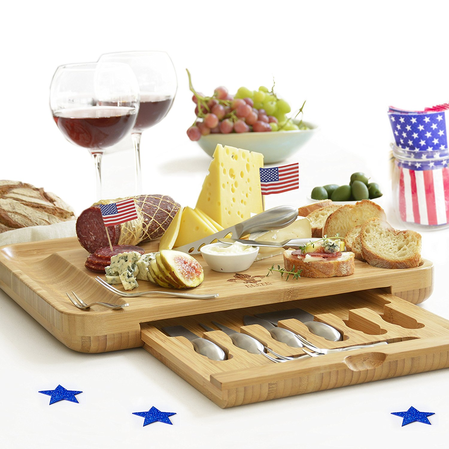 Smart Ideas For Life Premium Cheese Board & Knives Set, $55
