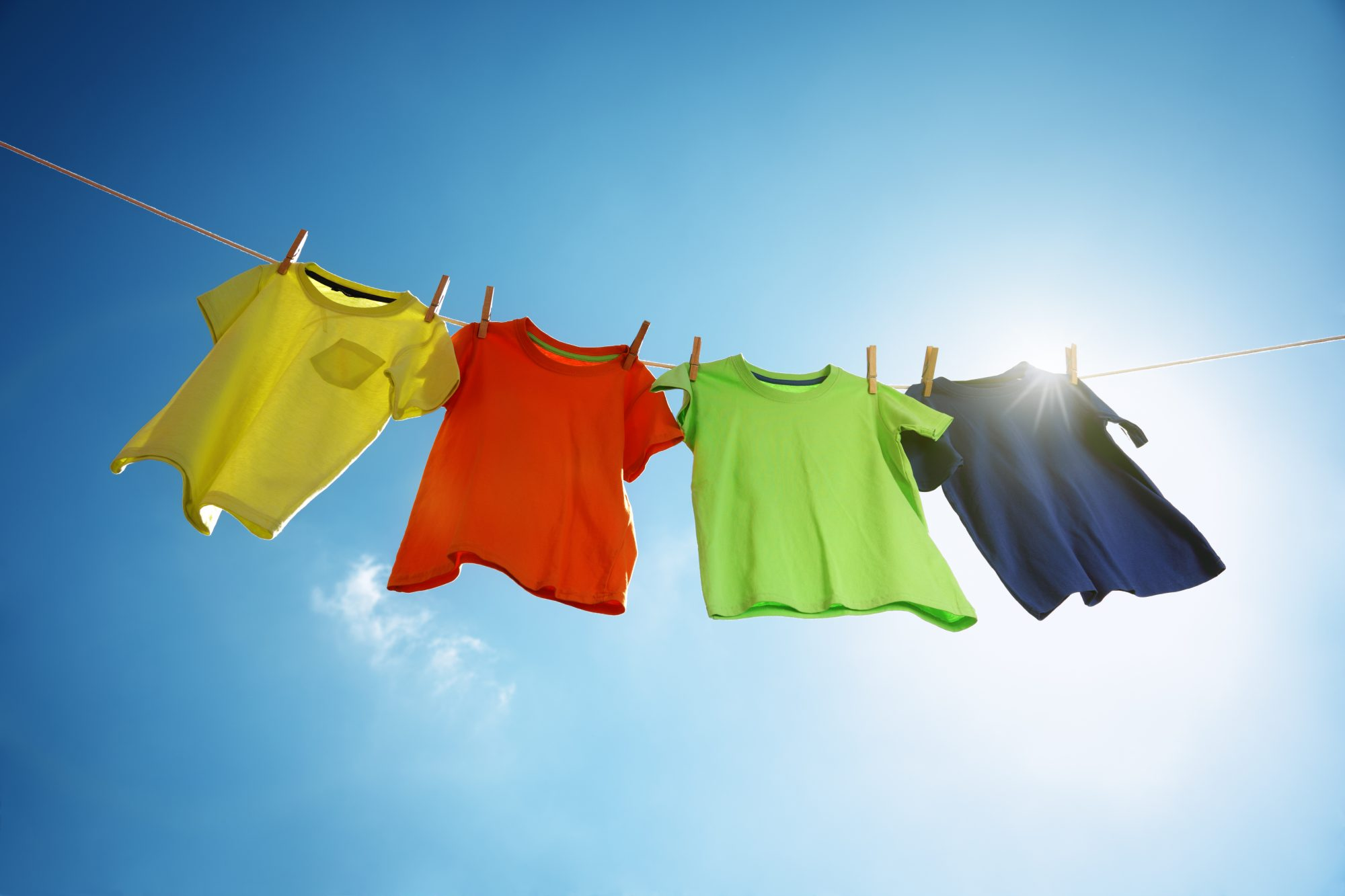 Line Drying Clothing