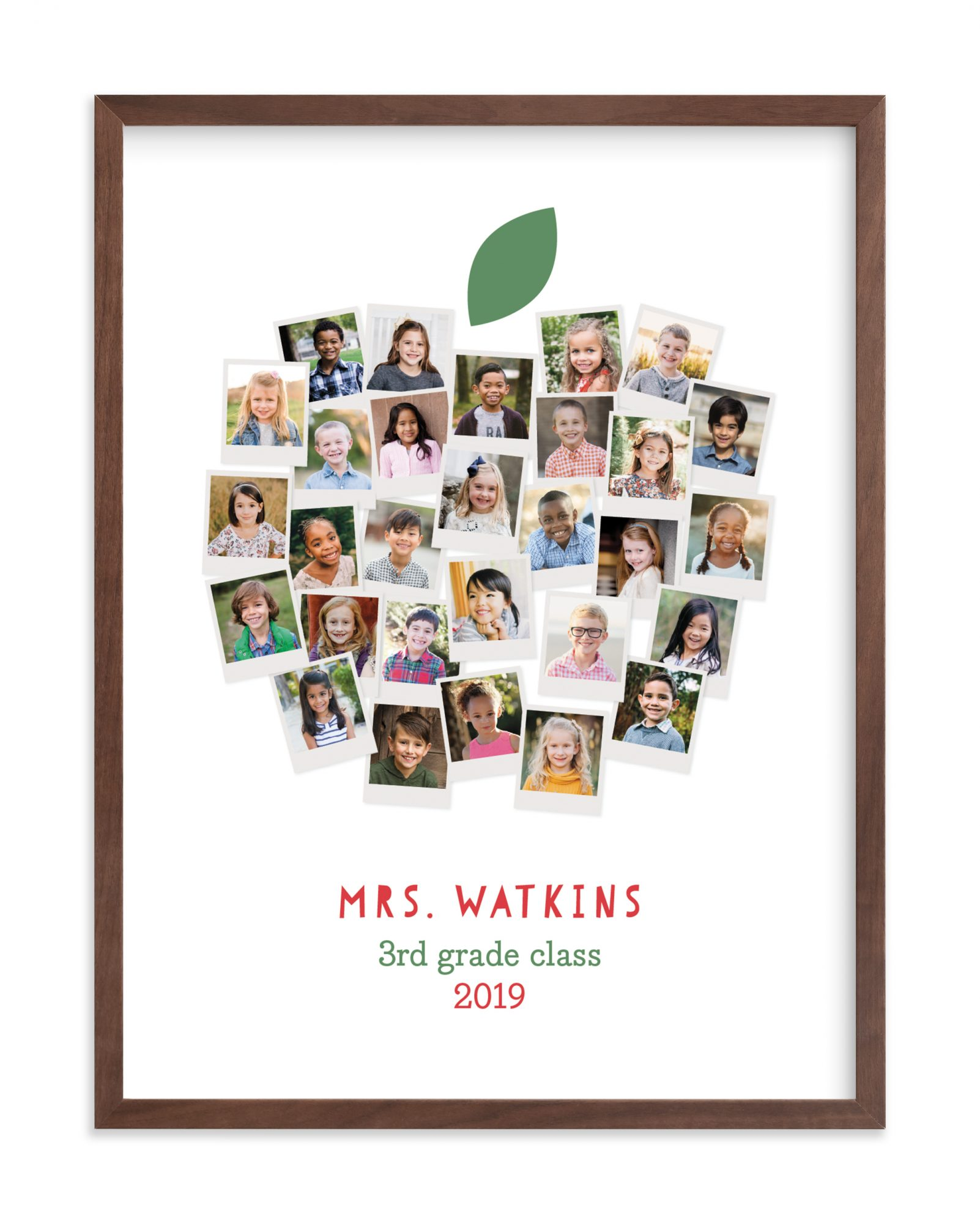 minted. Apple for the Teacher by Laura Bolter Design, from $24
