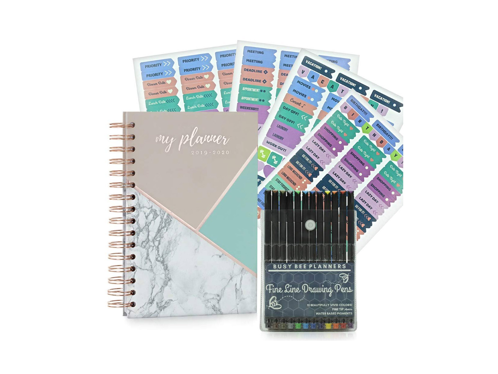Busy Bee Planner with Stickers and Pens