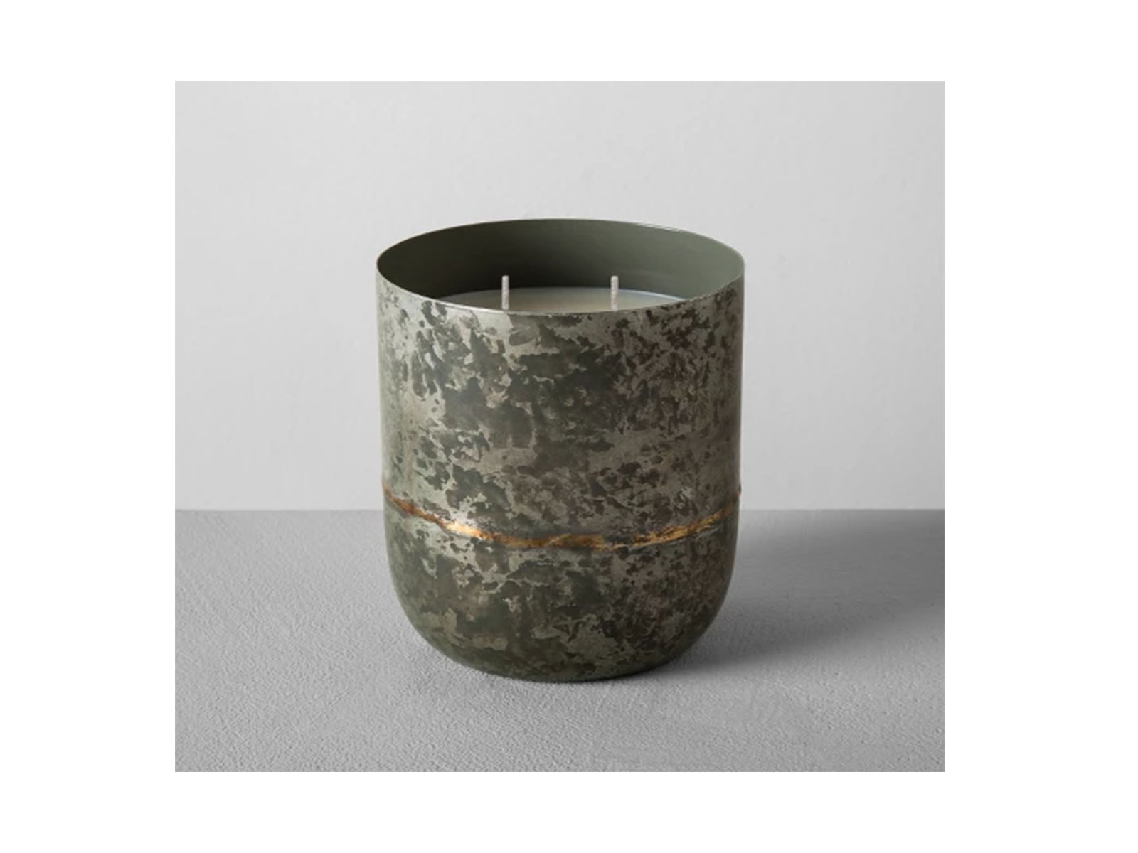 Galvanized Container Candle Cardamom & Vetiver