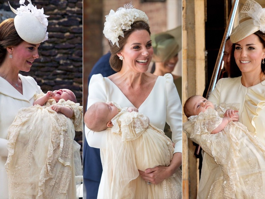 Princess Charlotte Stole One of Mom Kate's Signature Moves in Wedding Portrait with Prince George catherine-1