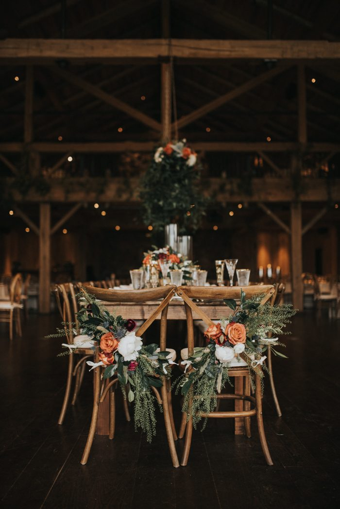 Floral-Flanked Chairs
