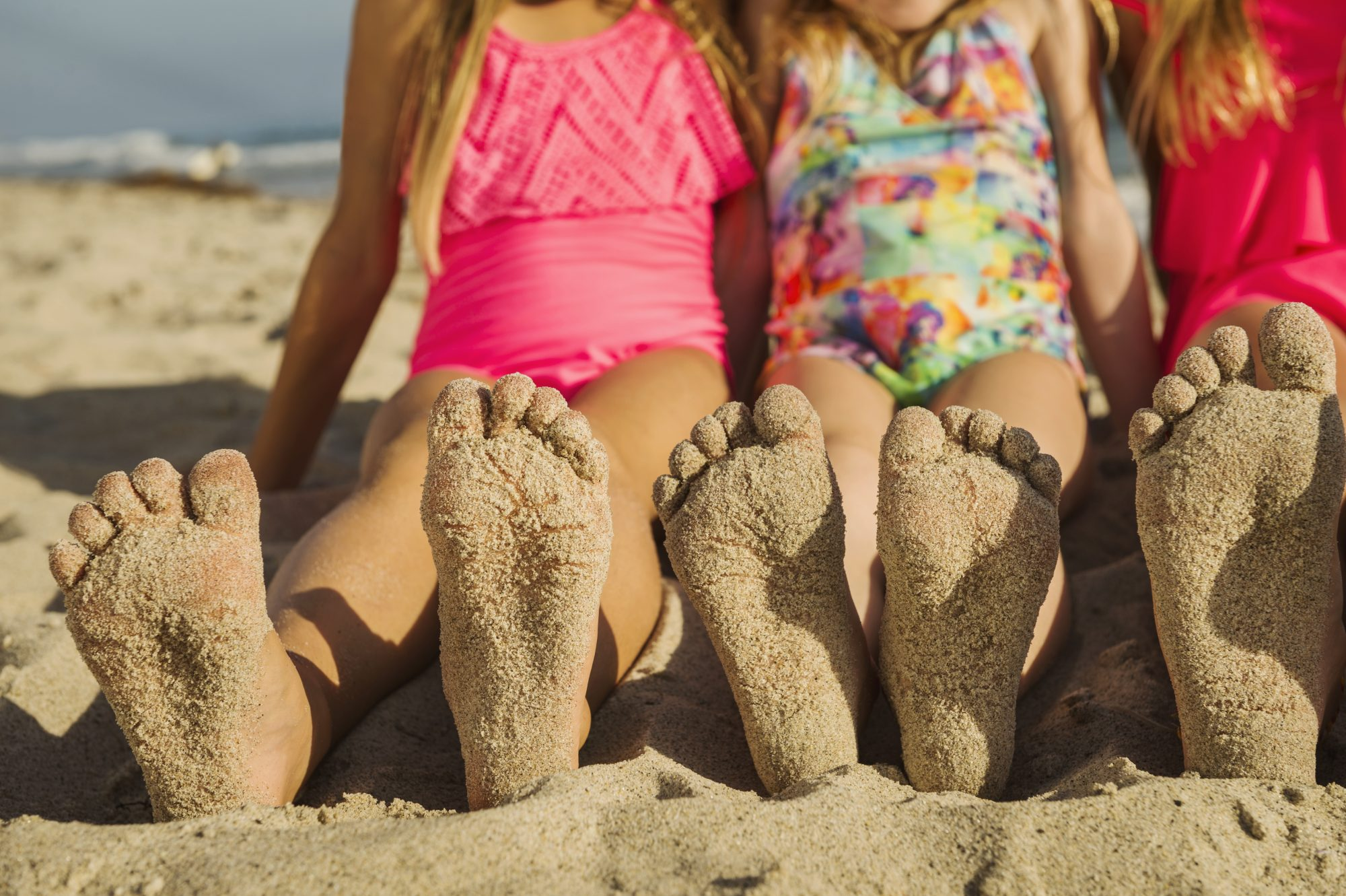Girls with Sandy Feet