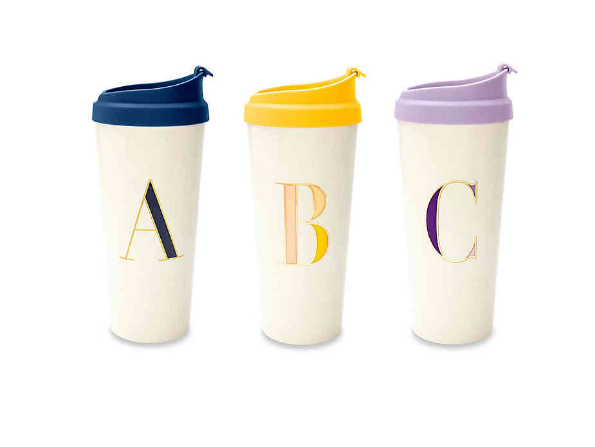Kate Spade New York Monogrammed Travel Mug