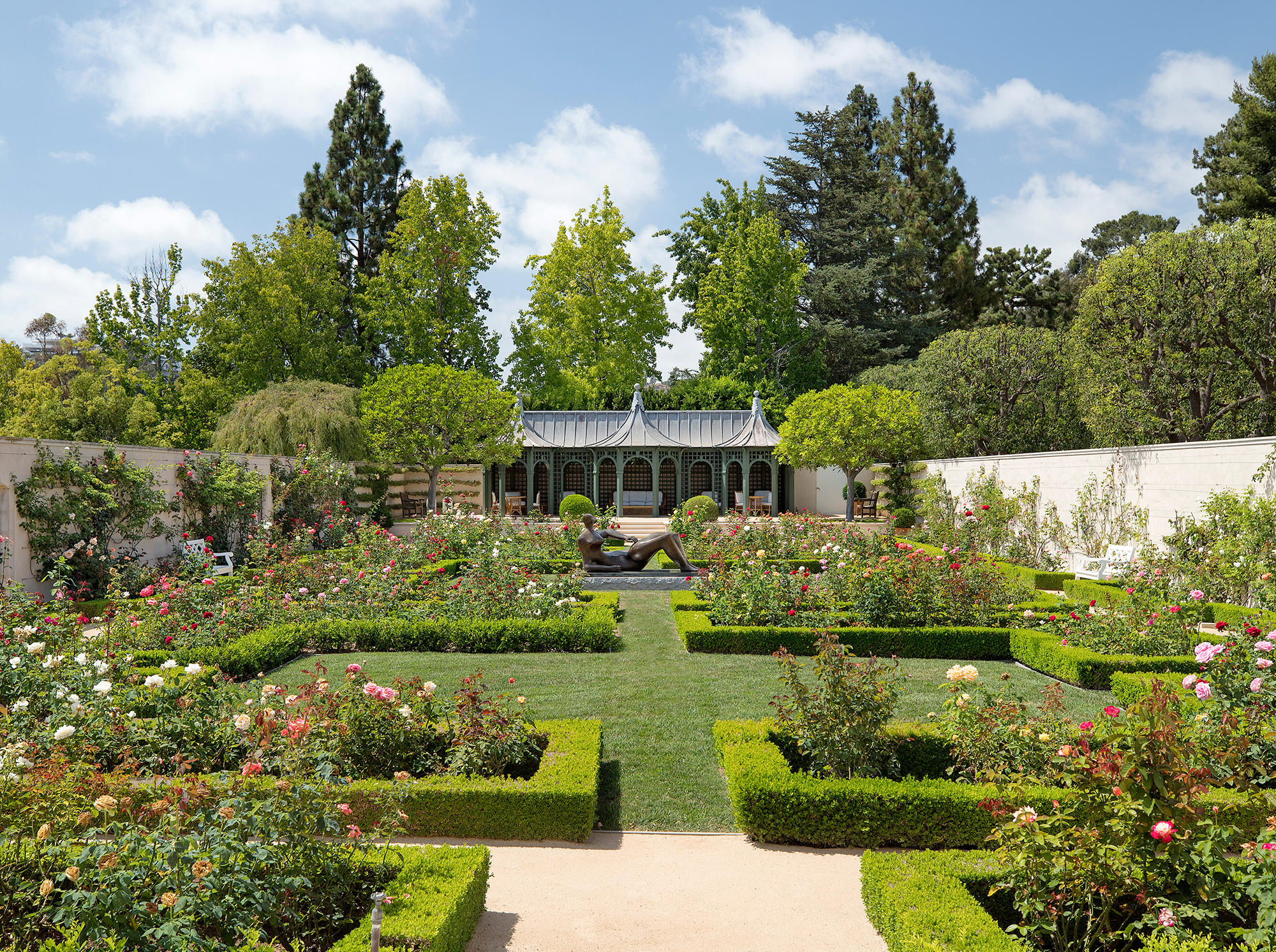 The Real Beverly Hillbillies Mansion for Sale in Bel-Air Just Got a $50 Million Price Chop most-expensive-home-america-backyard-garden