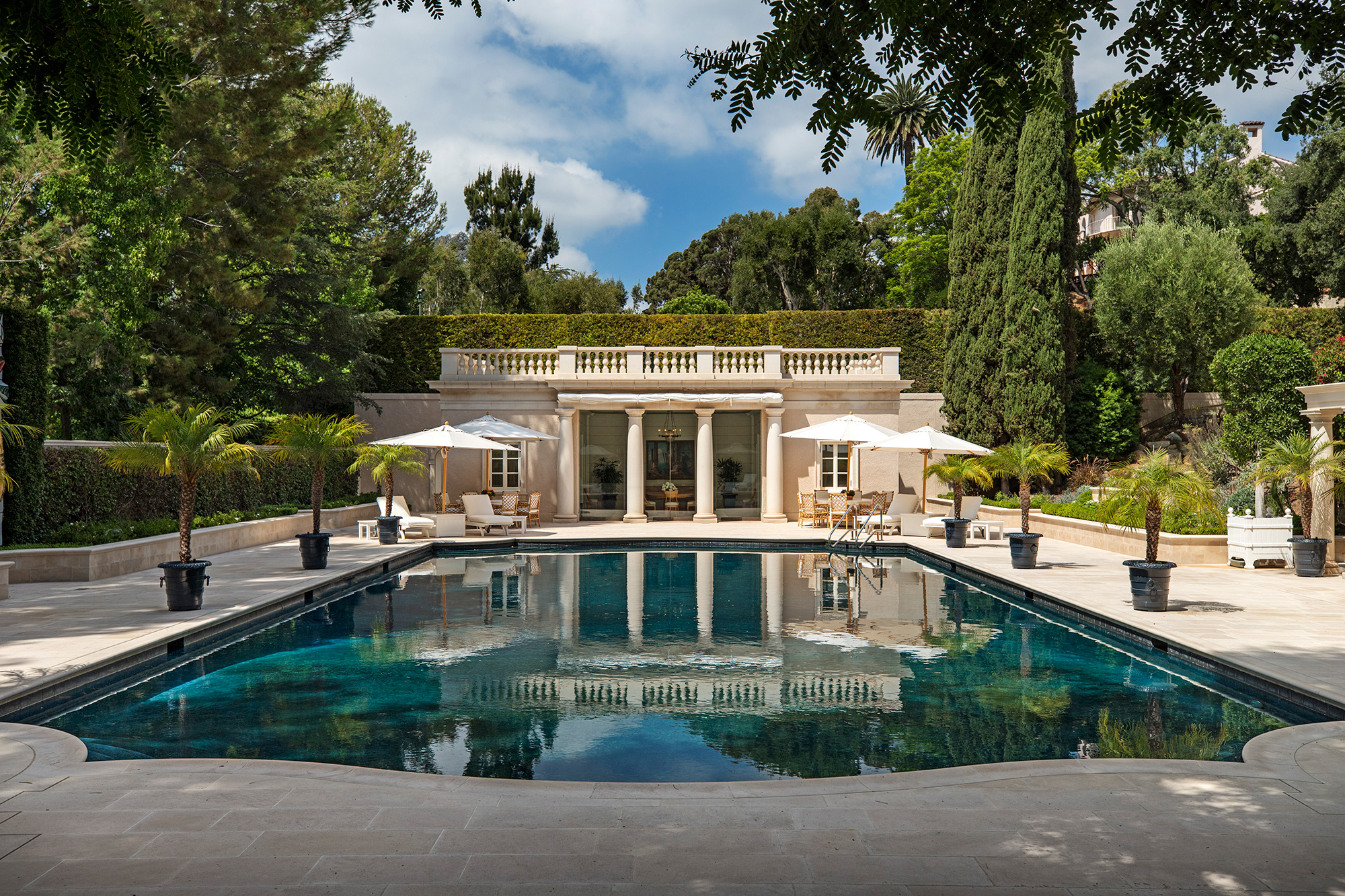 The Real Beverly Hillbillies Mansion for Sale in Bel-Air Just Got a $50 Million Price Chop most-expensive-home-america-pool