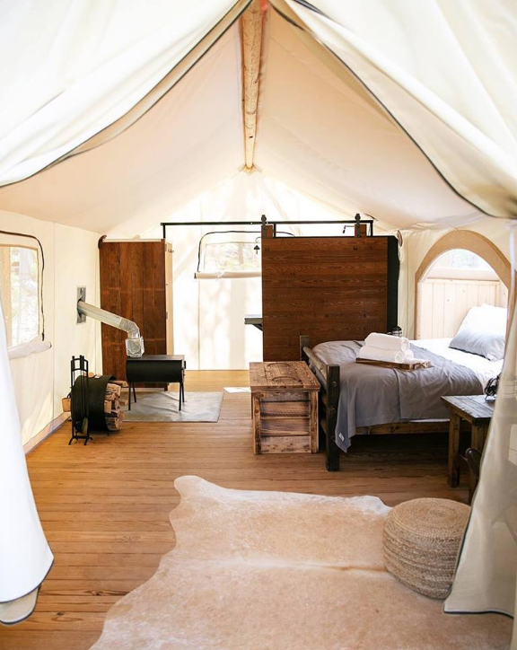 Under Canvas Tent Inside