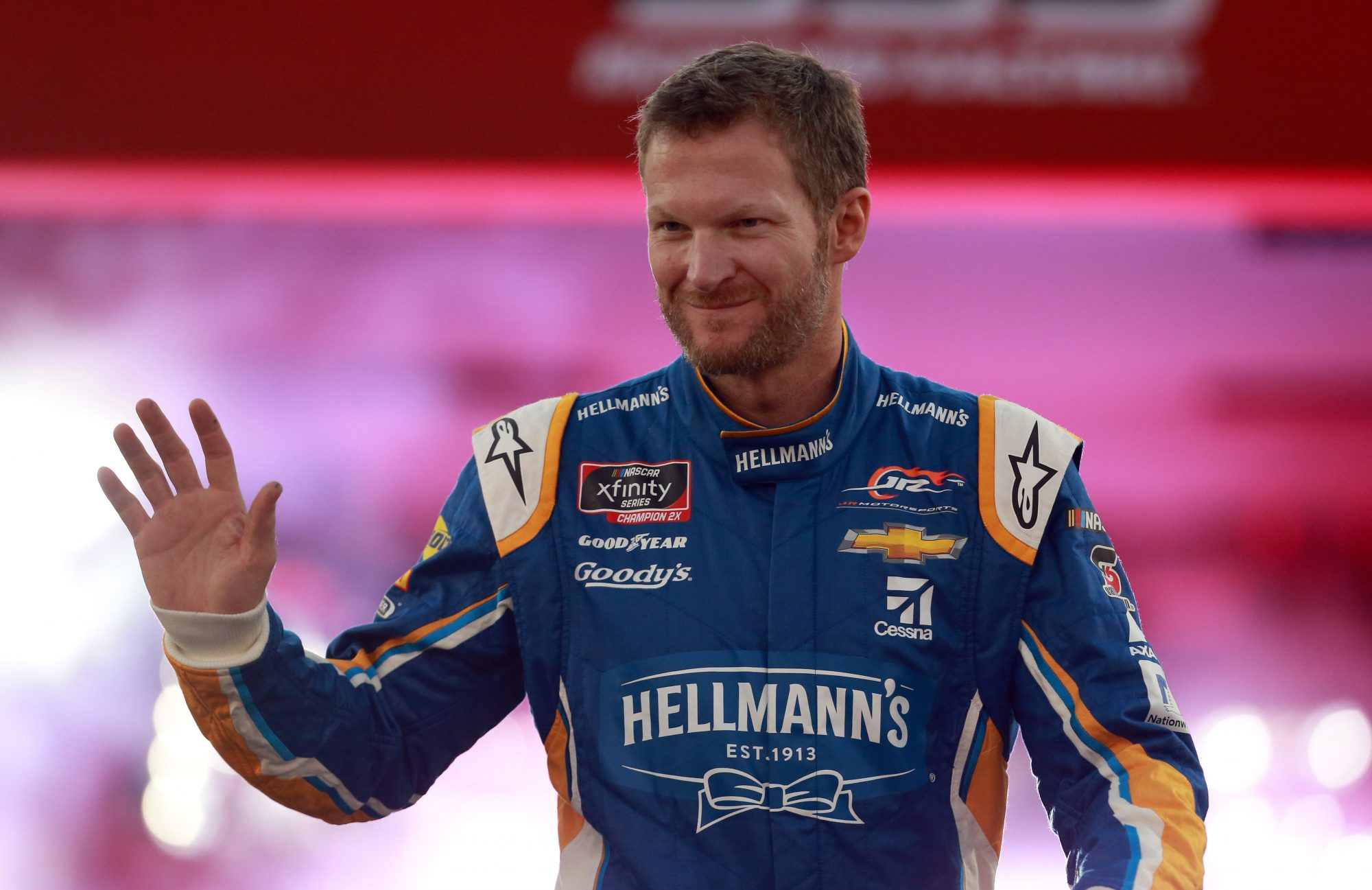 Dale Earnhardt Jr. in Hellmann's Fire Suit