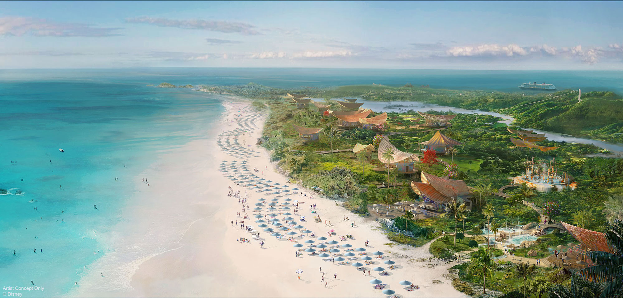 Disney Cruise Lines Reveals a New Ship (and Island Getaway) — See the Disney Wish! disney-lighthouse-point-island-bahamas
