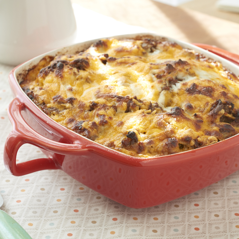 Sausage, Egg and Biscuits Casserole Recipe | MyRecipes