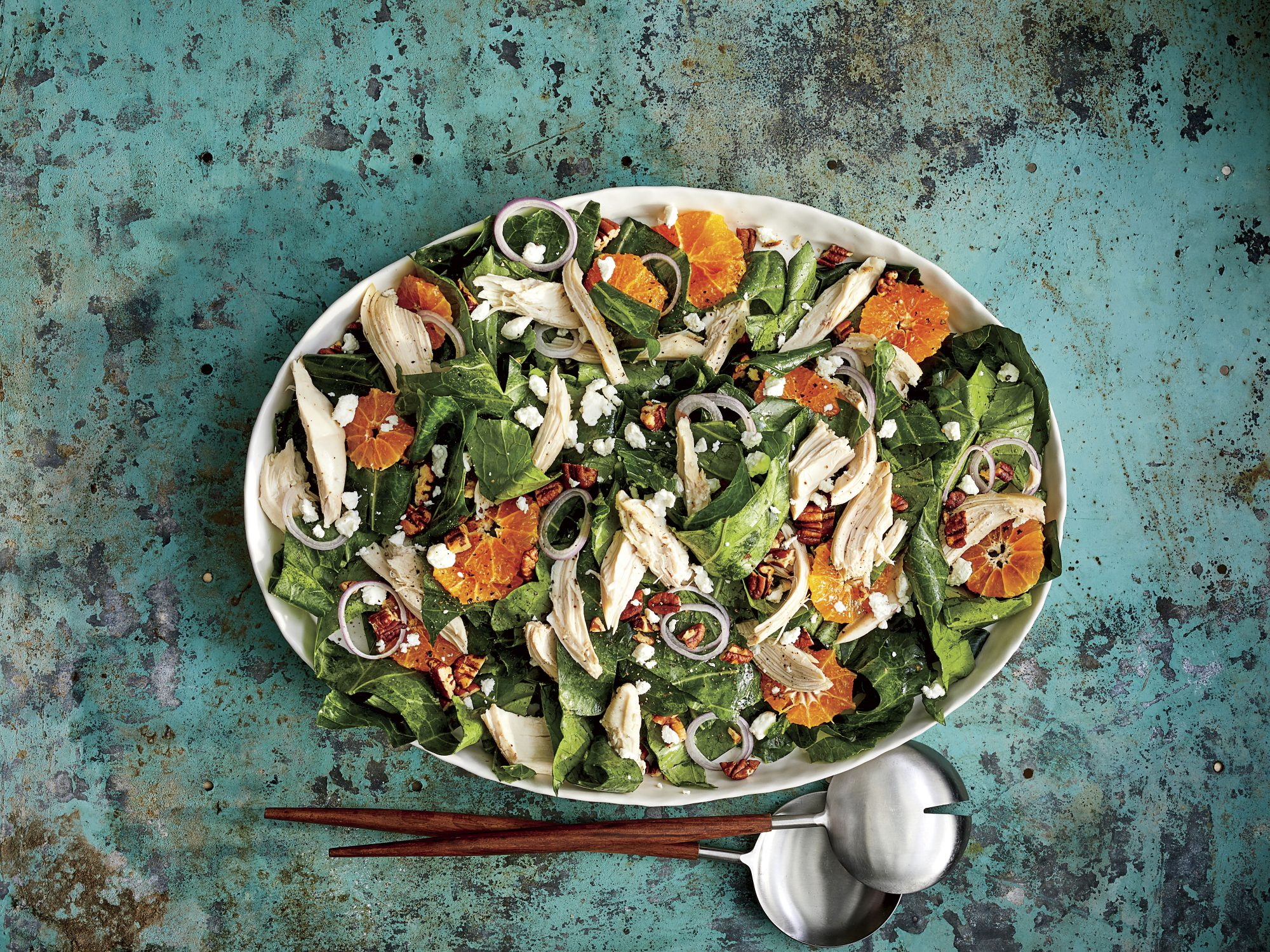 Clementine-and-Collard Greens Salad