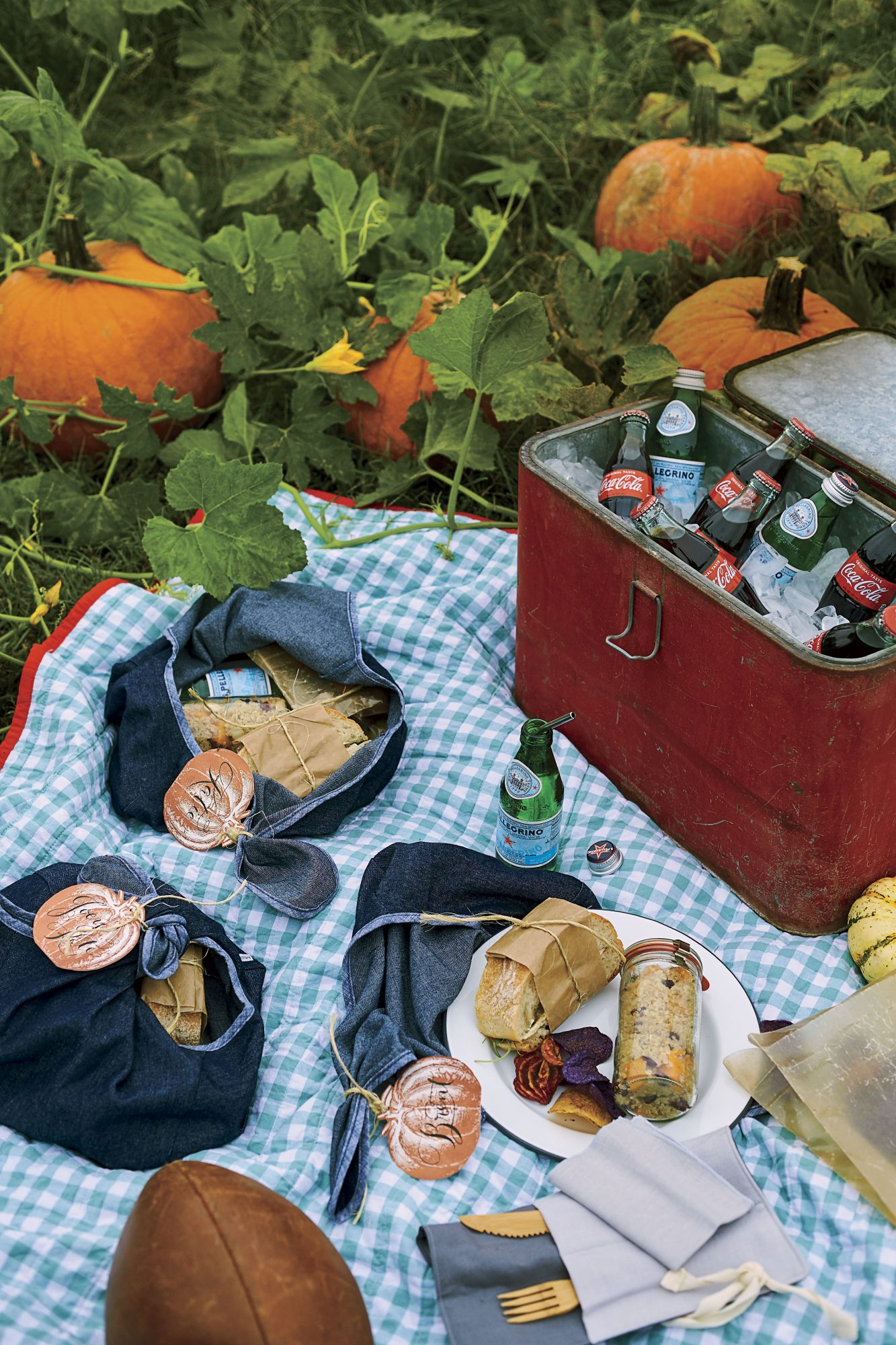 Katie Jacobs Fall Tailgate at Pumpkin Patch Serving Lunch