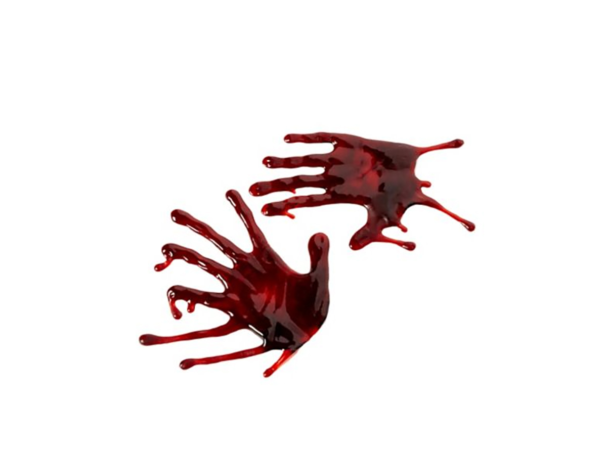 Bloody Hand Drips - Decorations