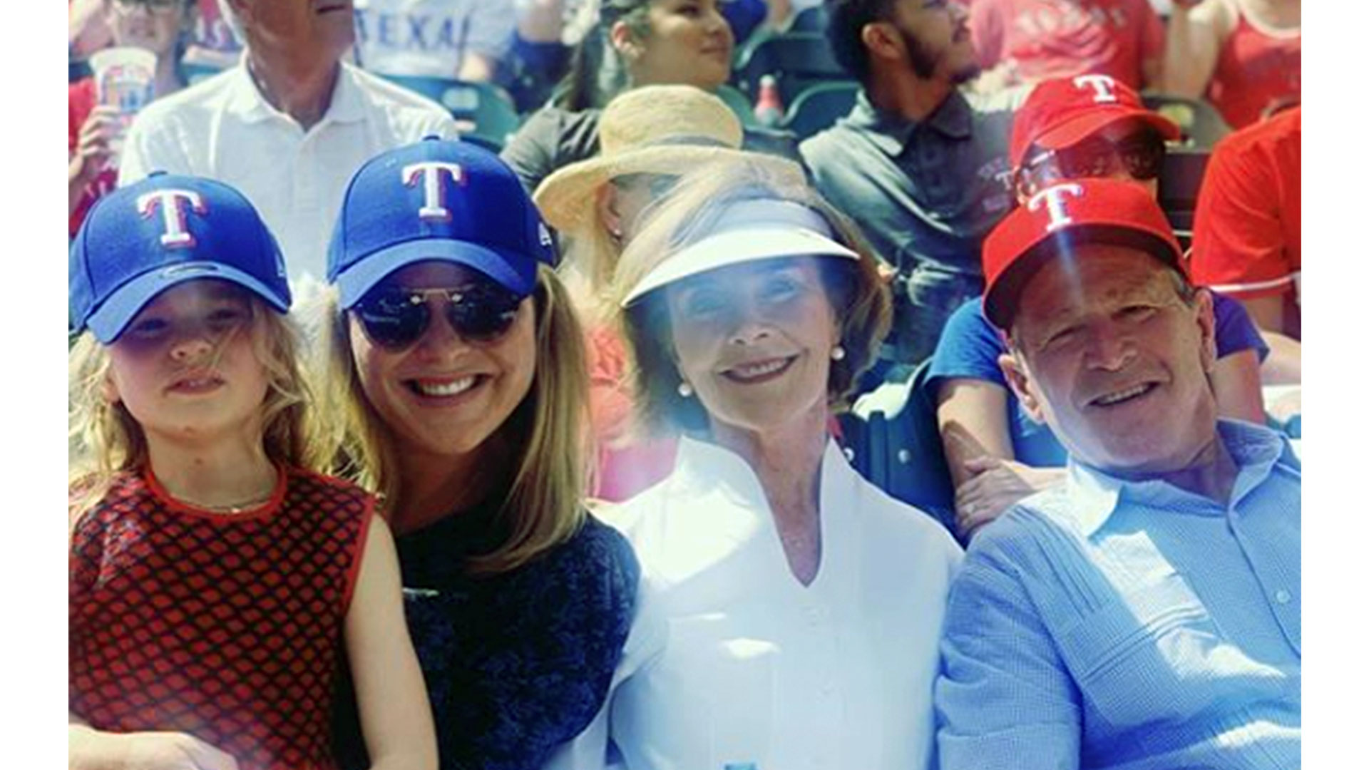 Jenna Bush Hager Family Rangers Game