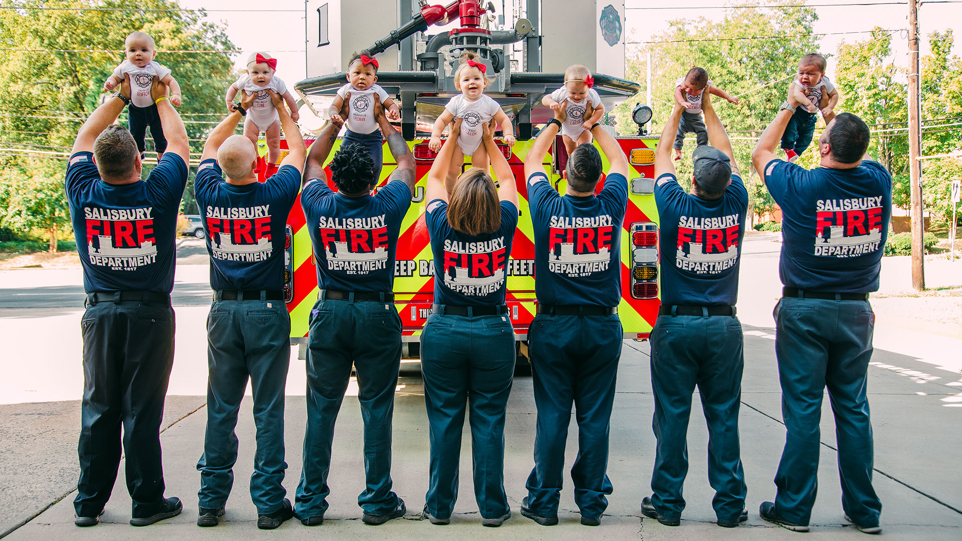 WATCH: North Carolina Firefighters Celebrate Baby Boom with Adorable Photoshoot